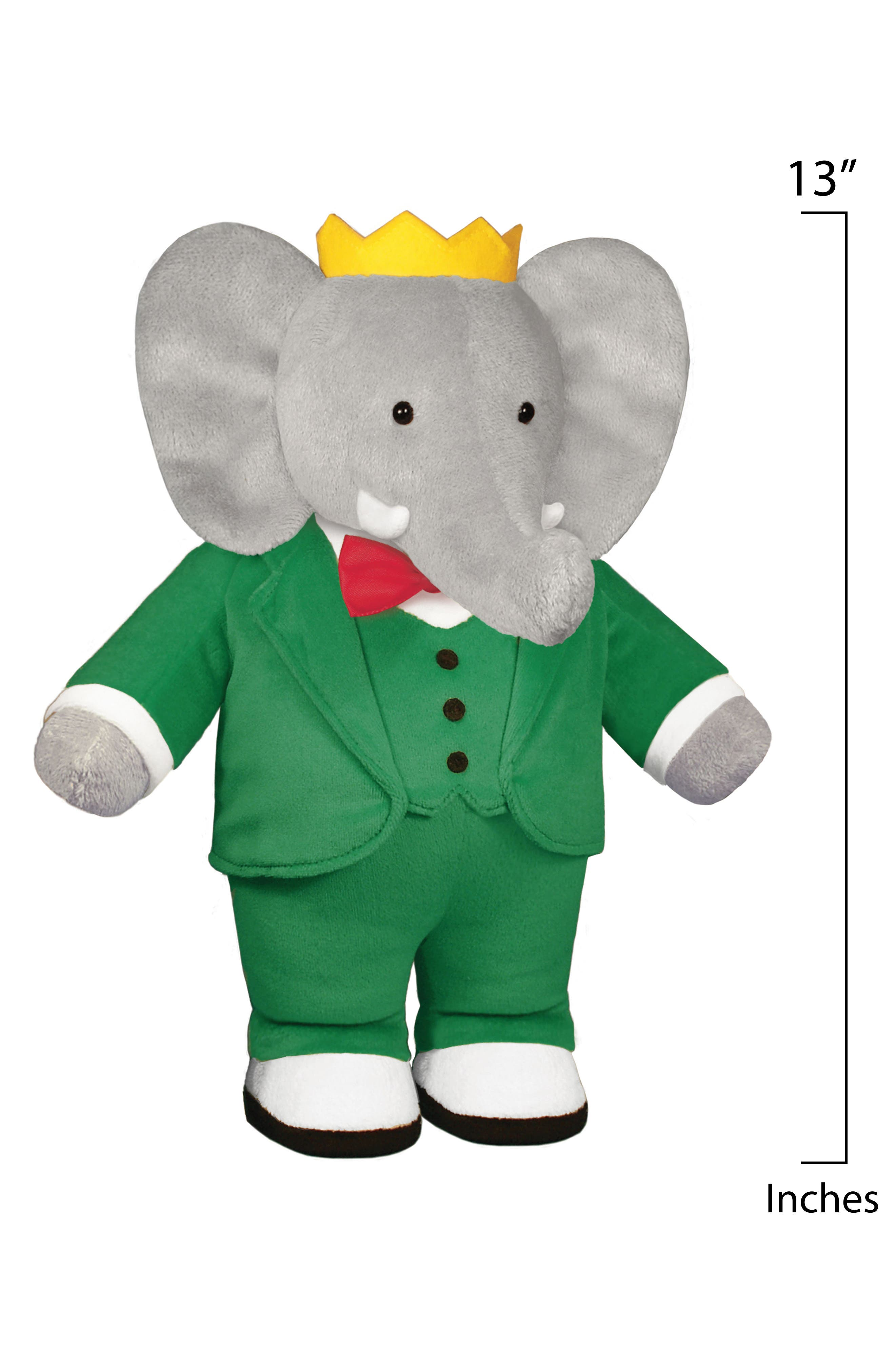 Babar Stuffed Toy,                             Alternate thumbnail 2, color,                             Green