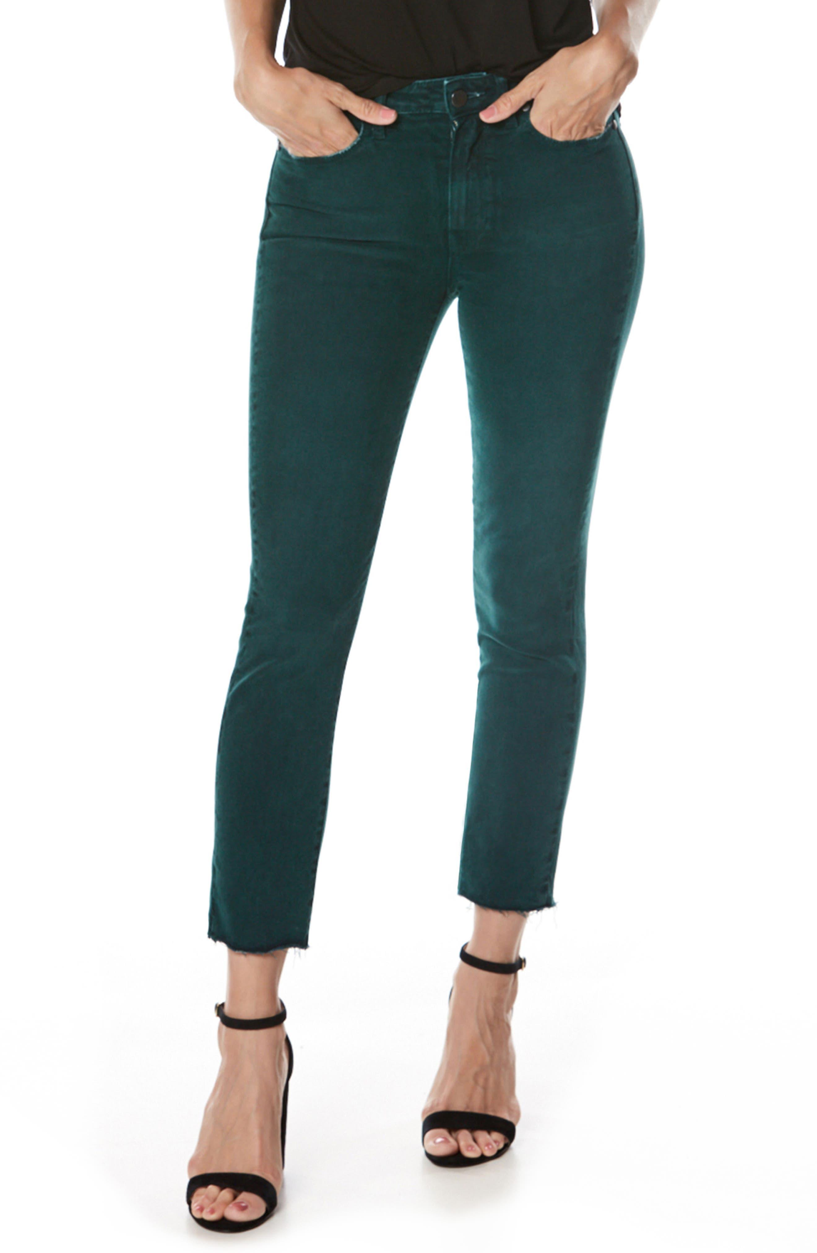 Jacqueline High Waist Crop Straight Leg Jeans,                         Main,                         color, Vintage Sea