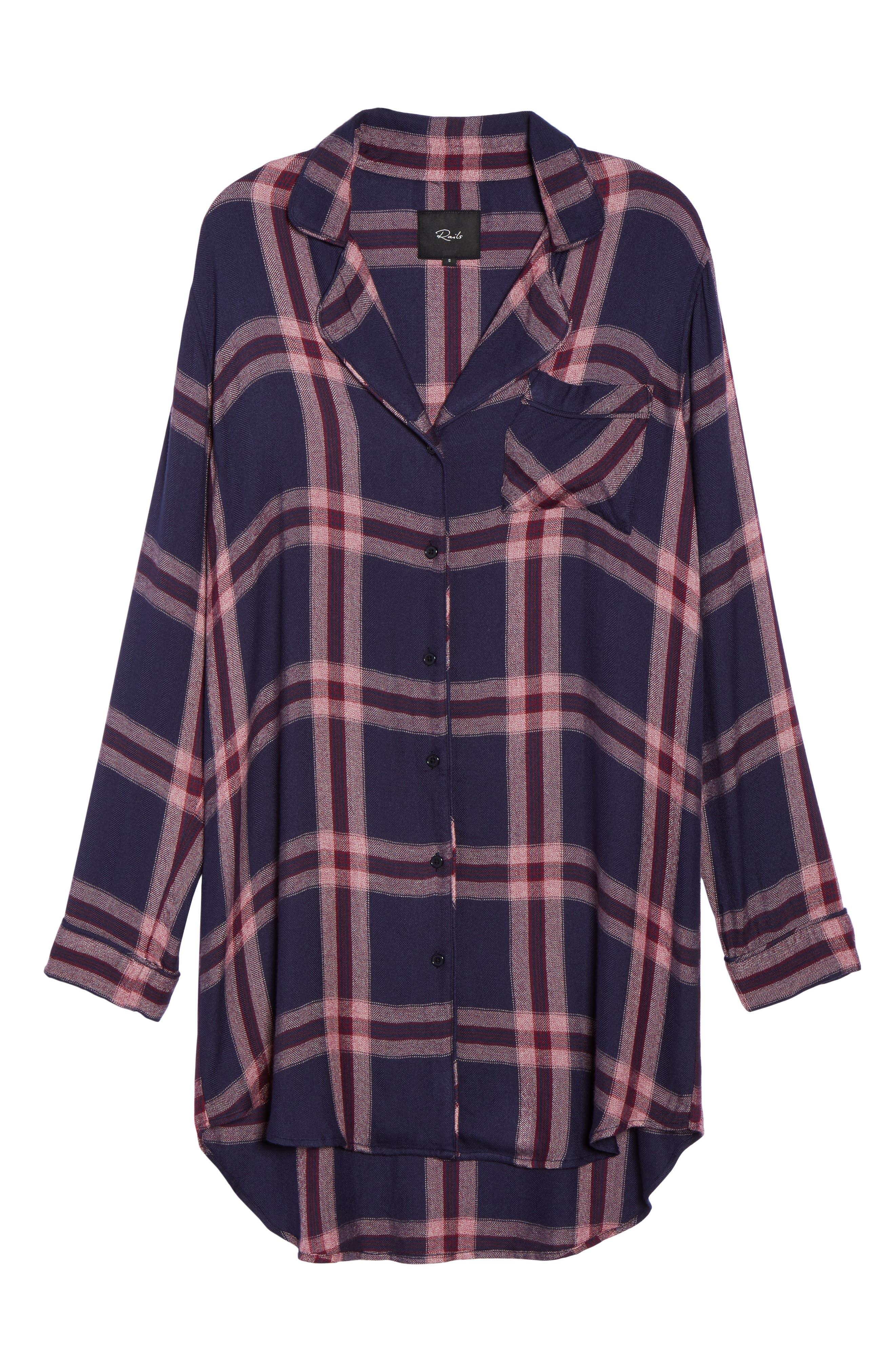 Alternate Image 4  - Rails Plaid Sleep Shirt