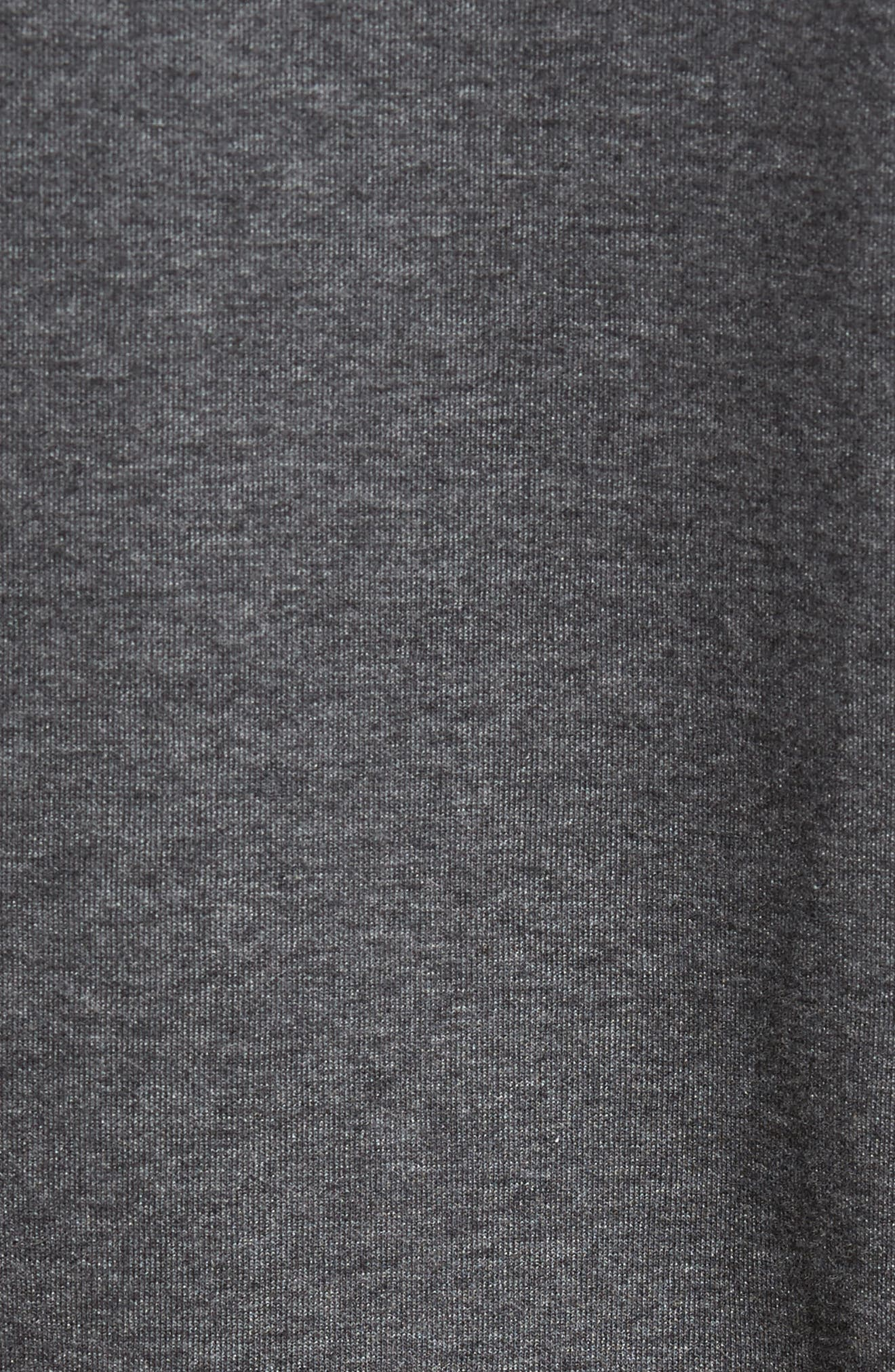 Zip Up Fleece,                             Alternate thumbnail 5, color,                             Dark Melange