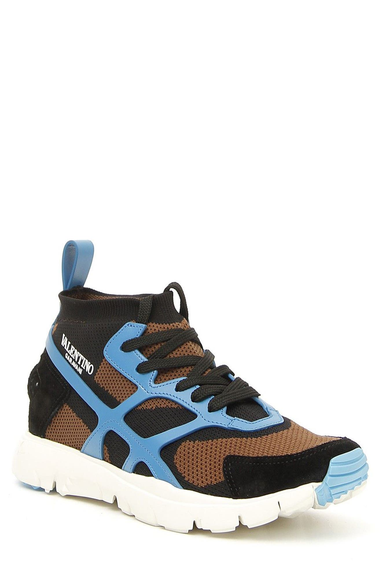 Sound High Sneaker,                         Main,                         color, Army Green/ Nero/ Pool Blue