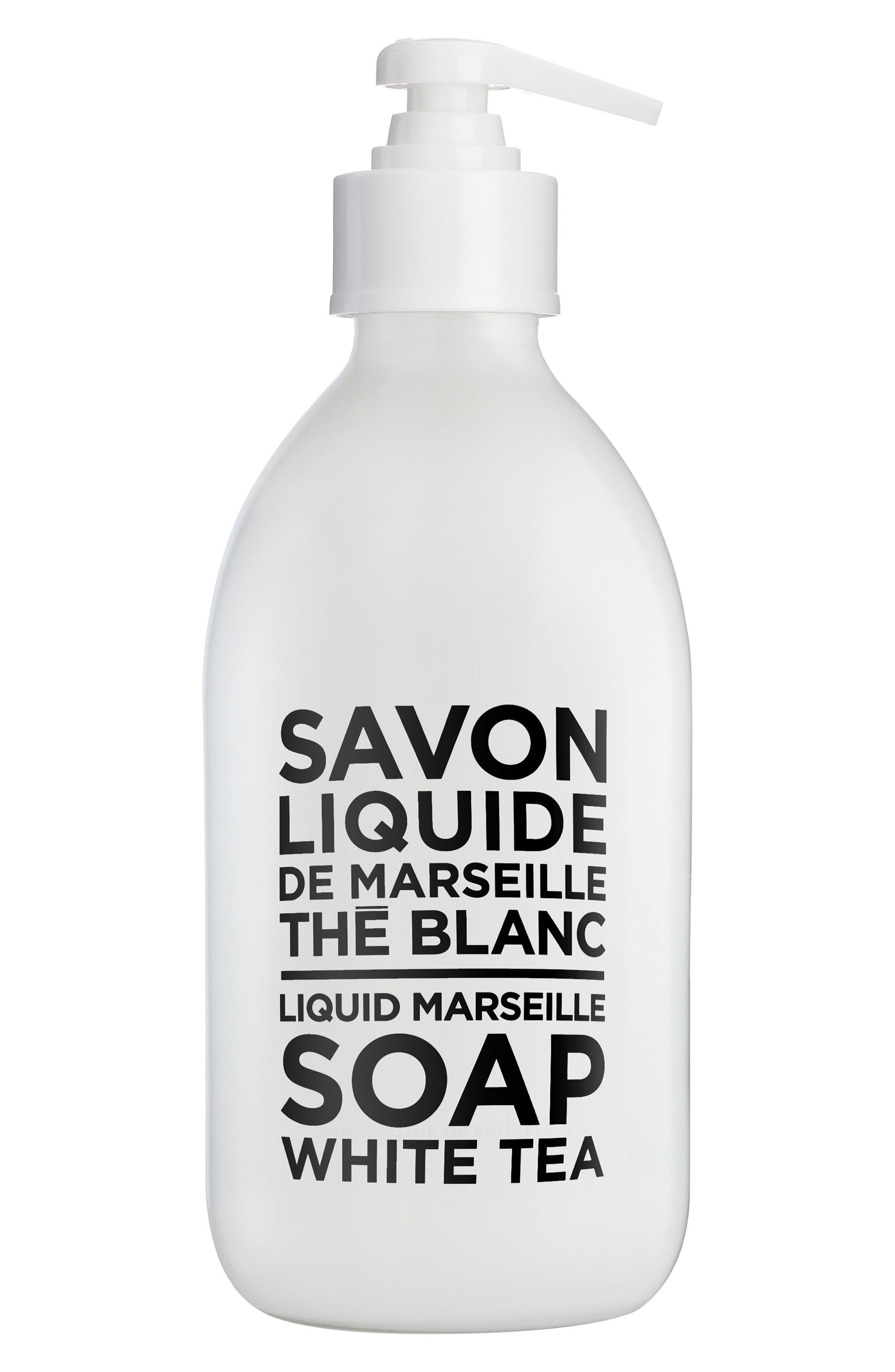White Tea Liquid Marseille Soap,                             Main thumbnail 1, color,                             No Color