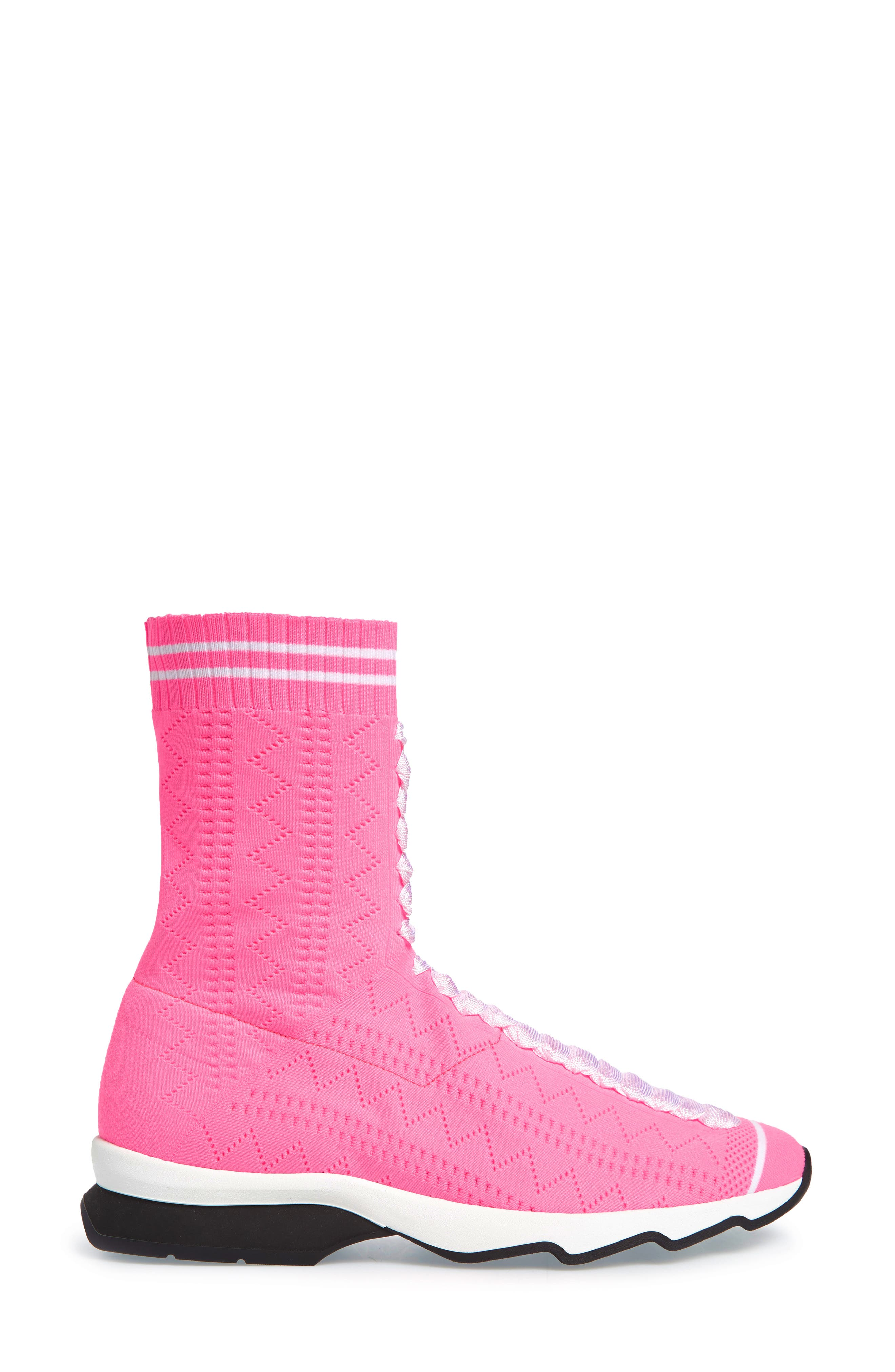 Rocko-Top Sock Sneaker,                             Alternate thumbnail 3, color,                             Pink