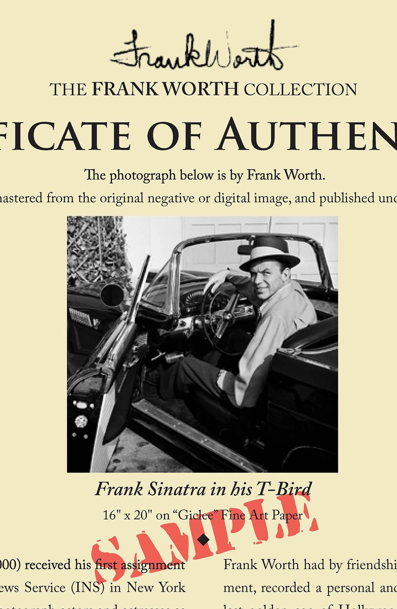 Frank Sinatra Fine Art Print,                             Alternate thumbnail 4, color,                             Black