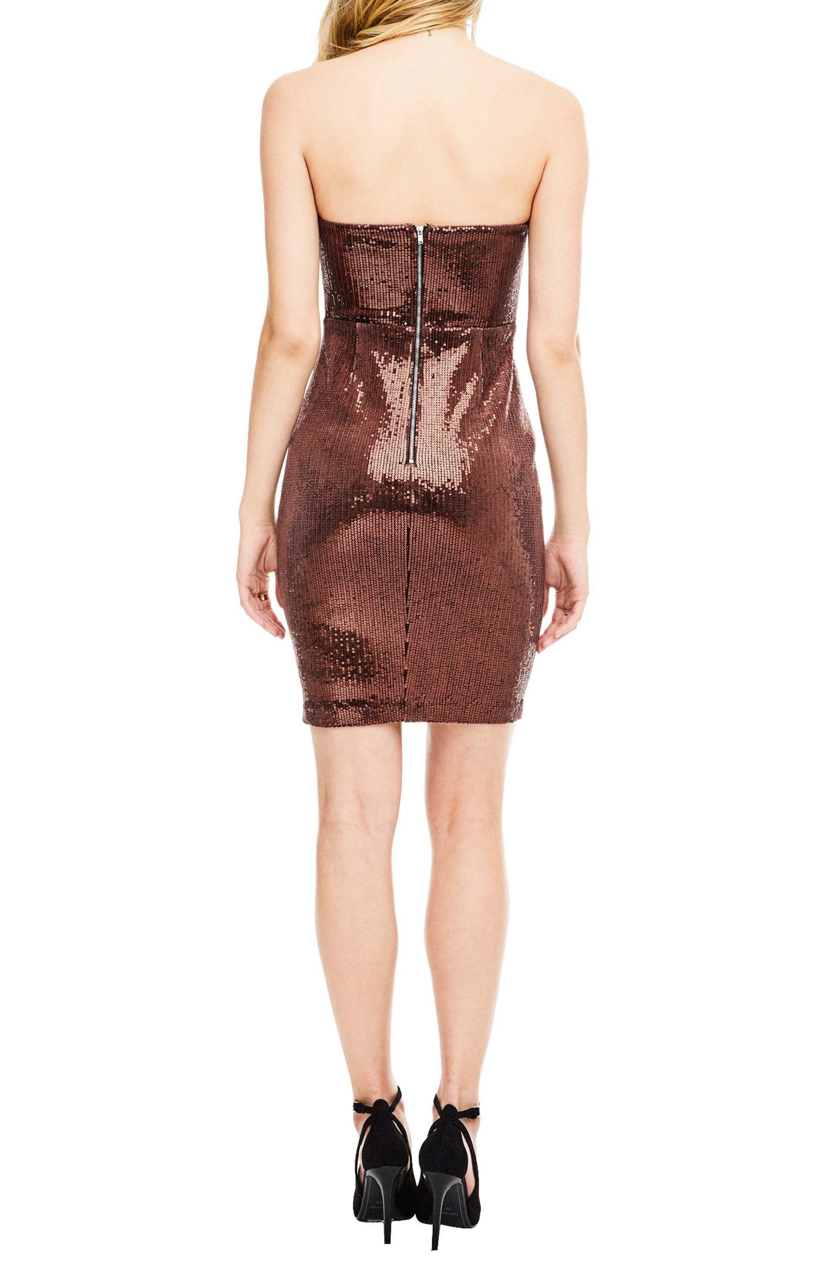 Alternate Image 3  - ASTR the Label Rizzo Sequin Strapless Dress