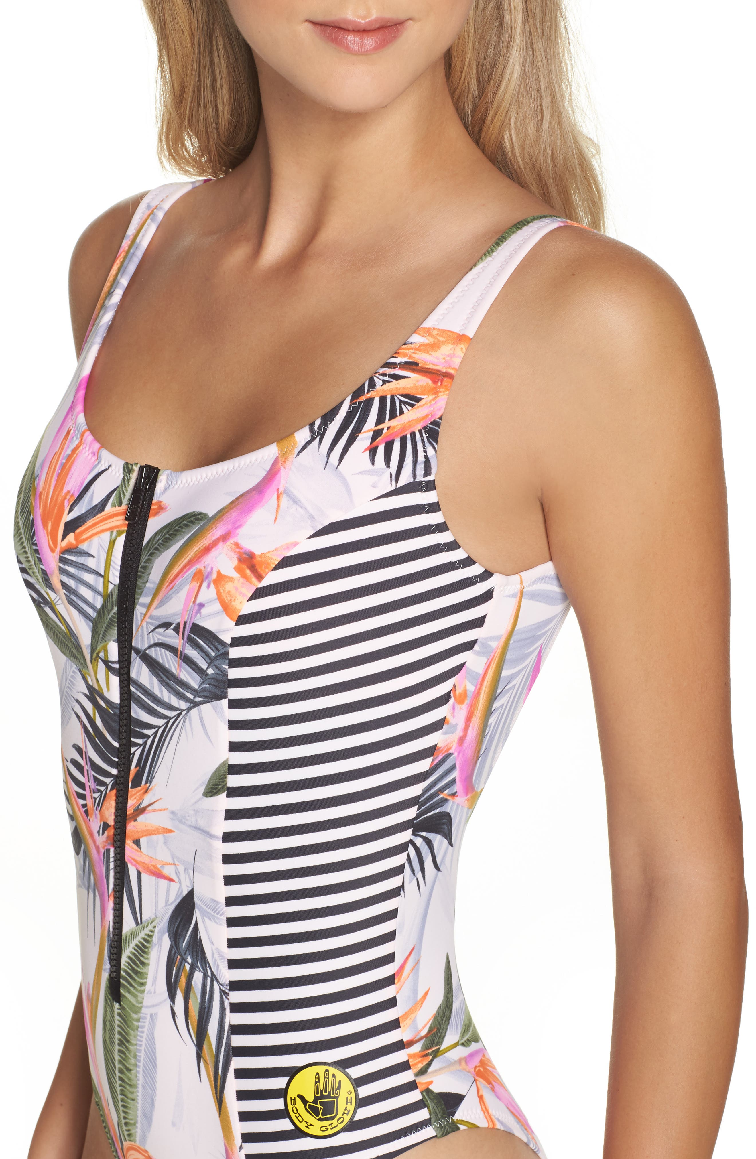 Litz - Time After Time One-Piece Swimsuit,                             Alternate thumbnail 4, color,                             Pearl