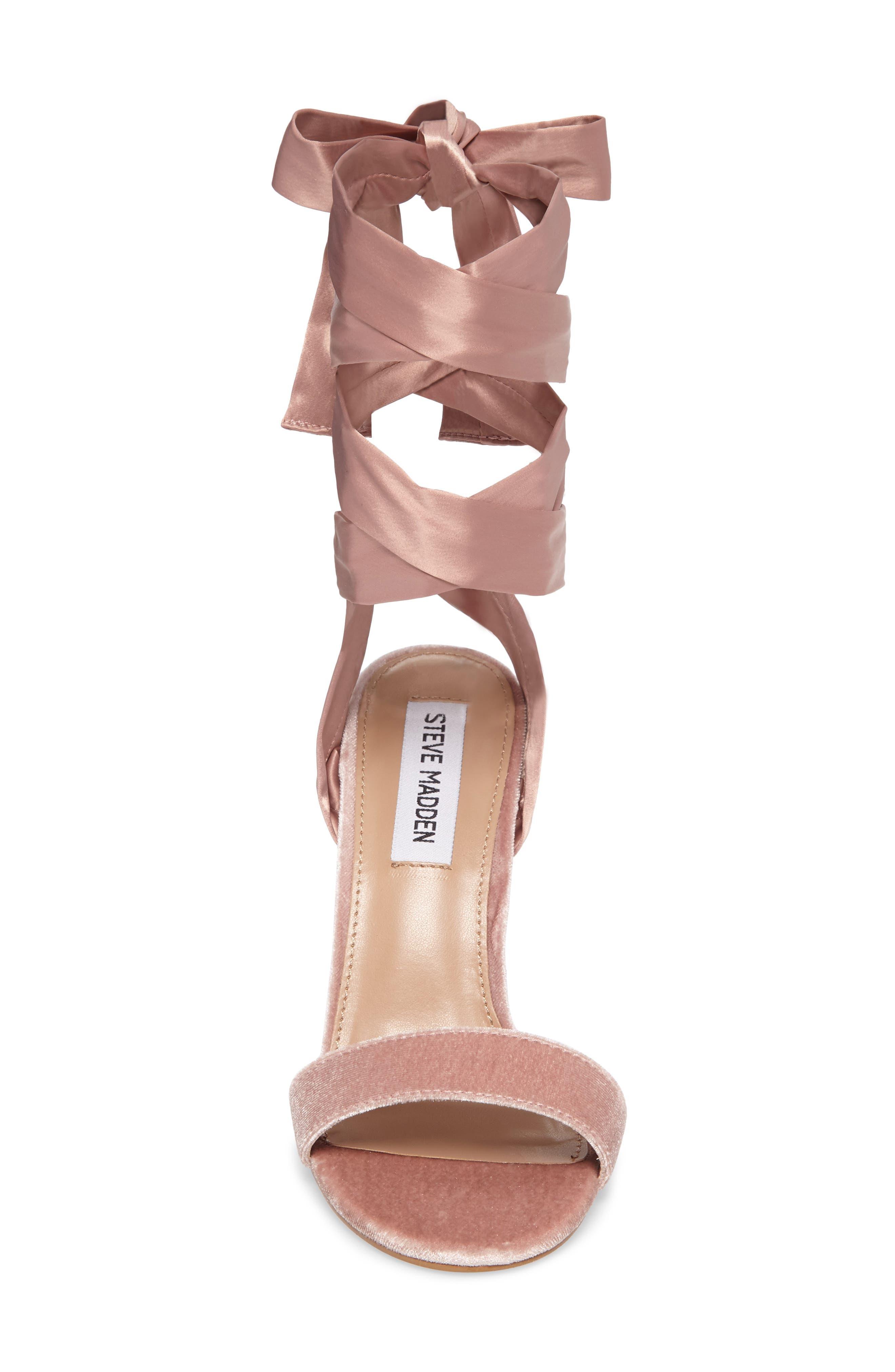 Promise Sandal,                             Alternate thumbnail 4, color,                             Blush Fabric