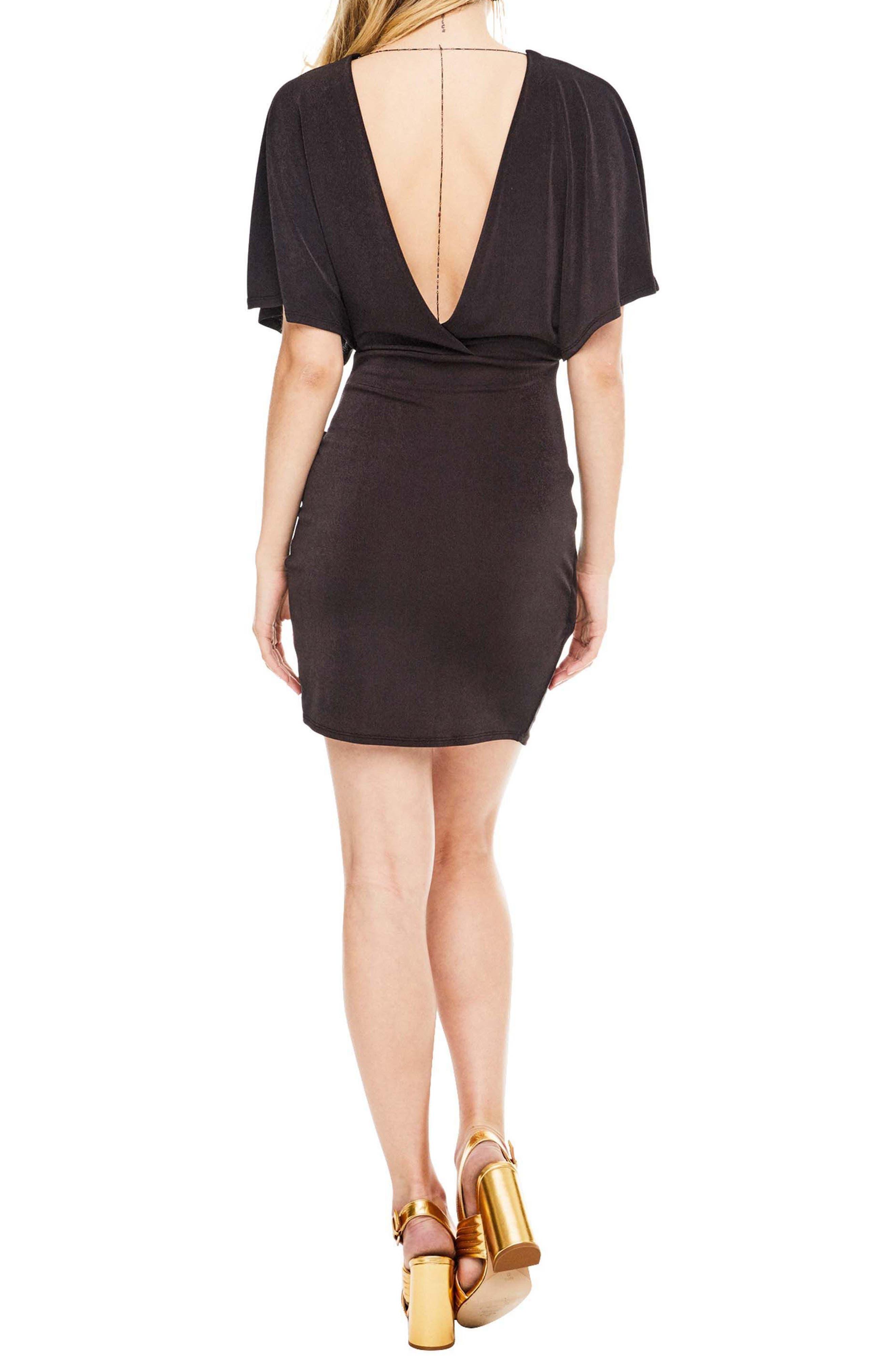 Haley Dolman Sleeve Dress,                             Alternate thumbnail 2, color,                             Coal