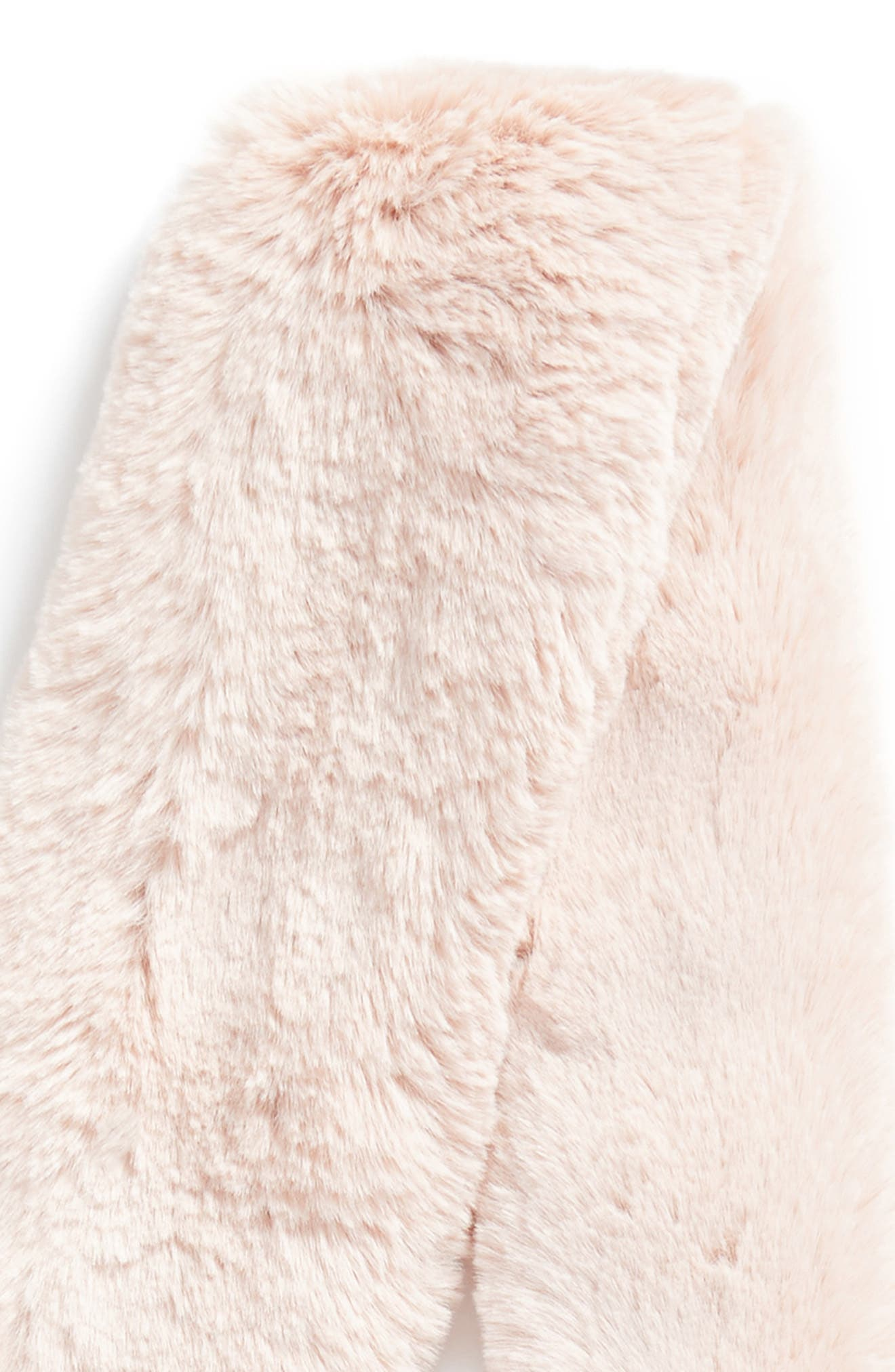 Pompom Faux Fur Scarf,                             Alternate thumbnail 4, color,                             Light Pink