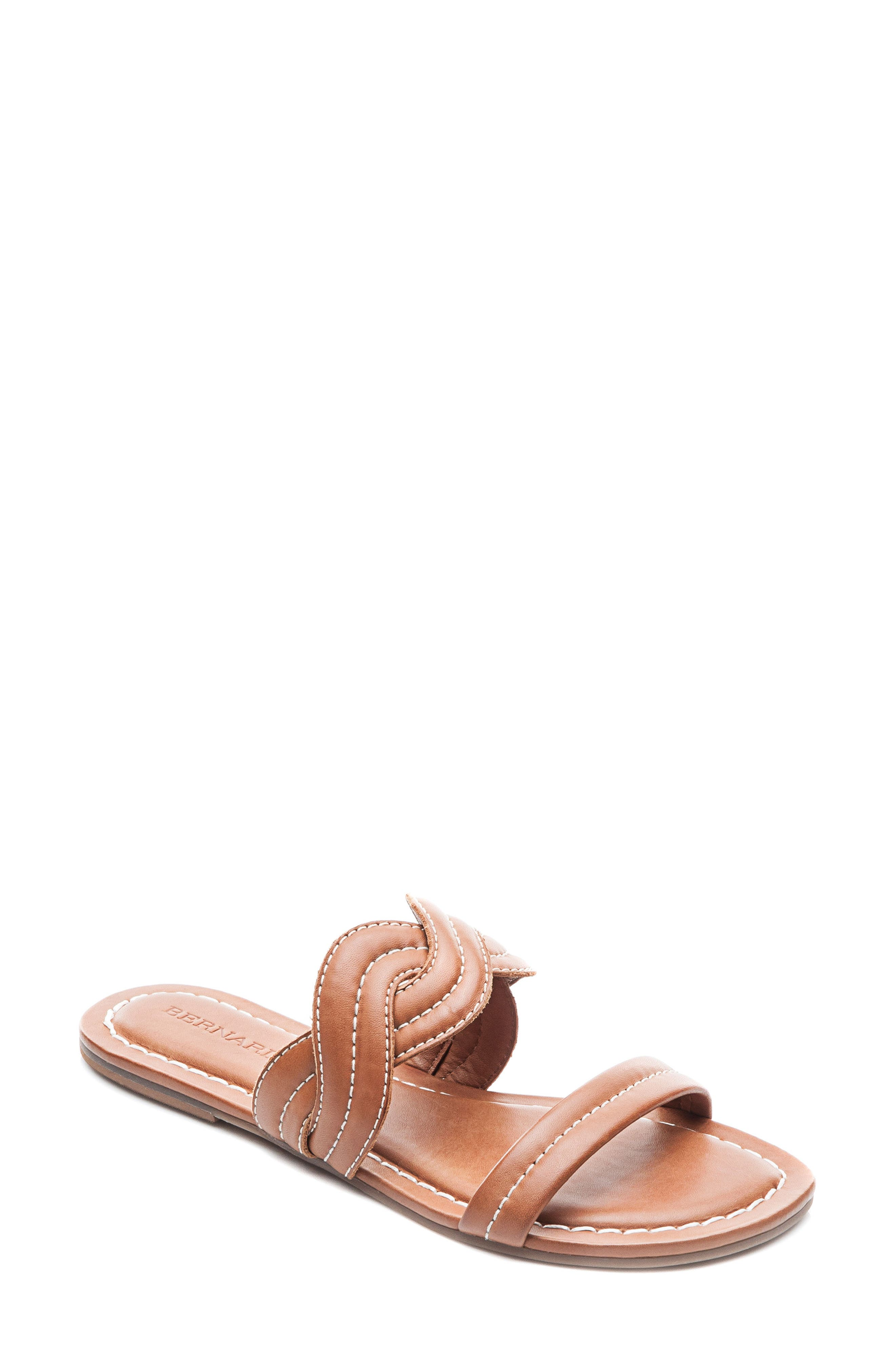 Bernardo Women's Leather Double Strap Slide Sandals yuep4