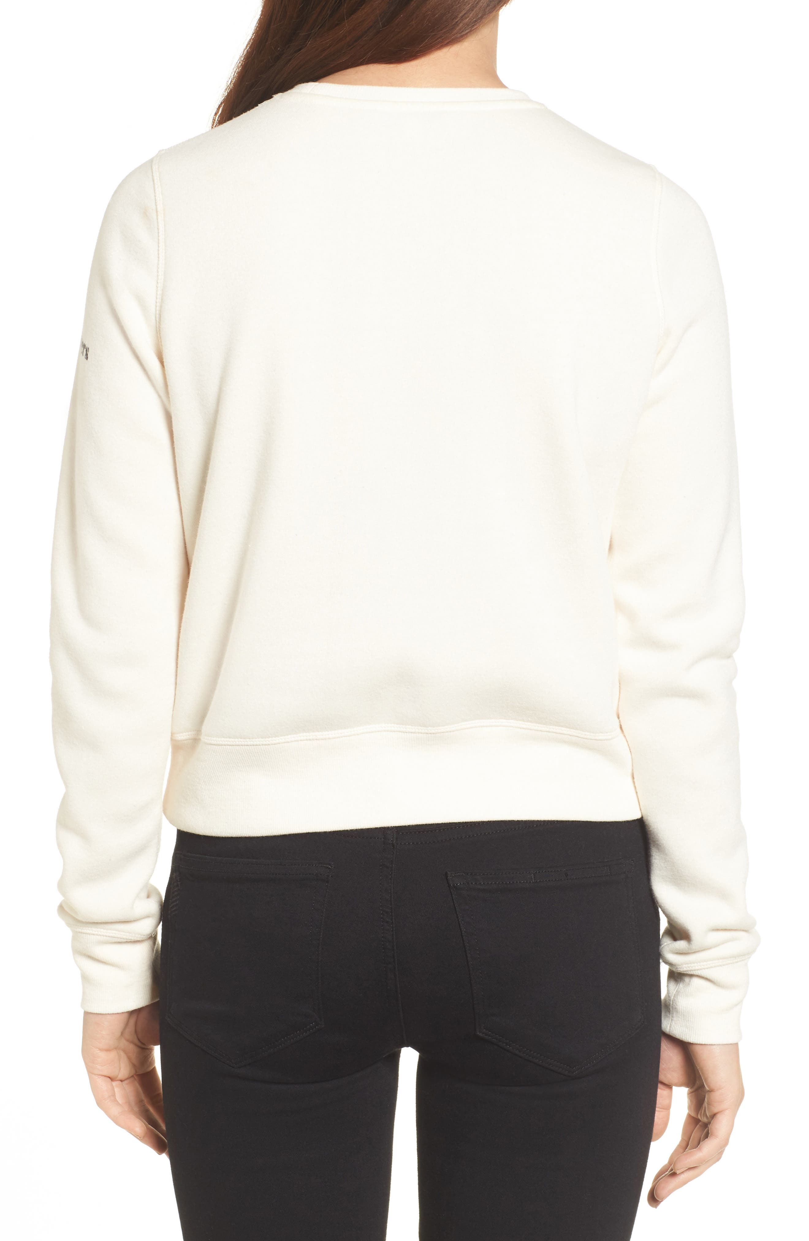 Paris Sweatshirt,                             Alternate thumbnail 2, color,                             Off White/ Black