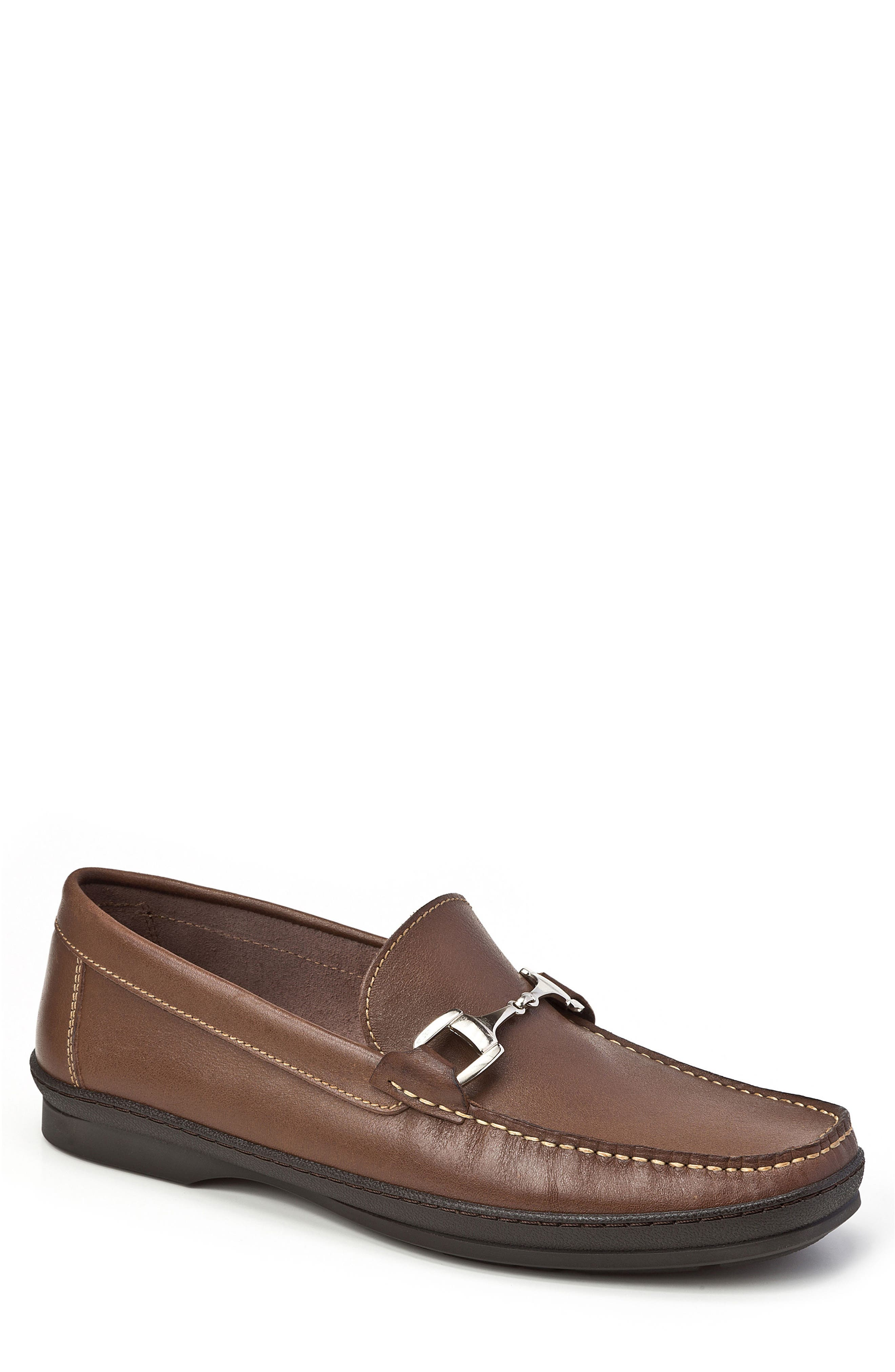 Navarro Bit Loafer,                         Main,                         color, Brown Leather