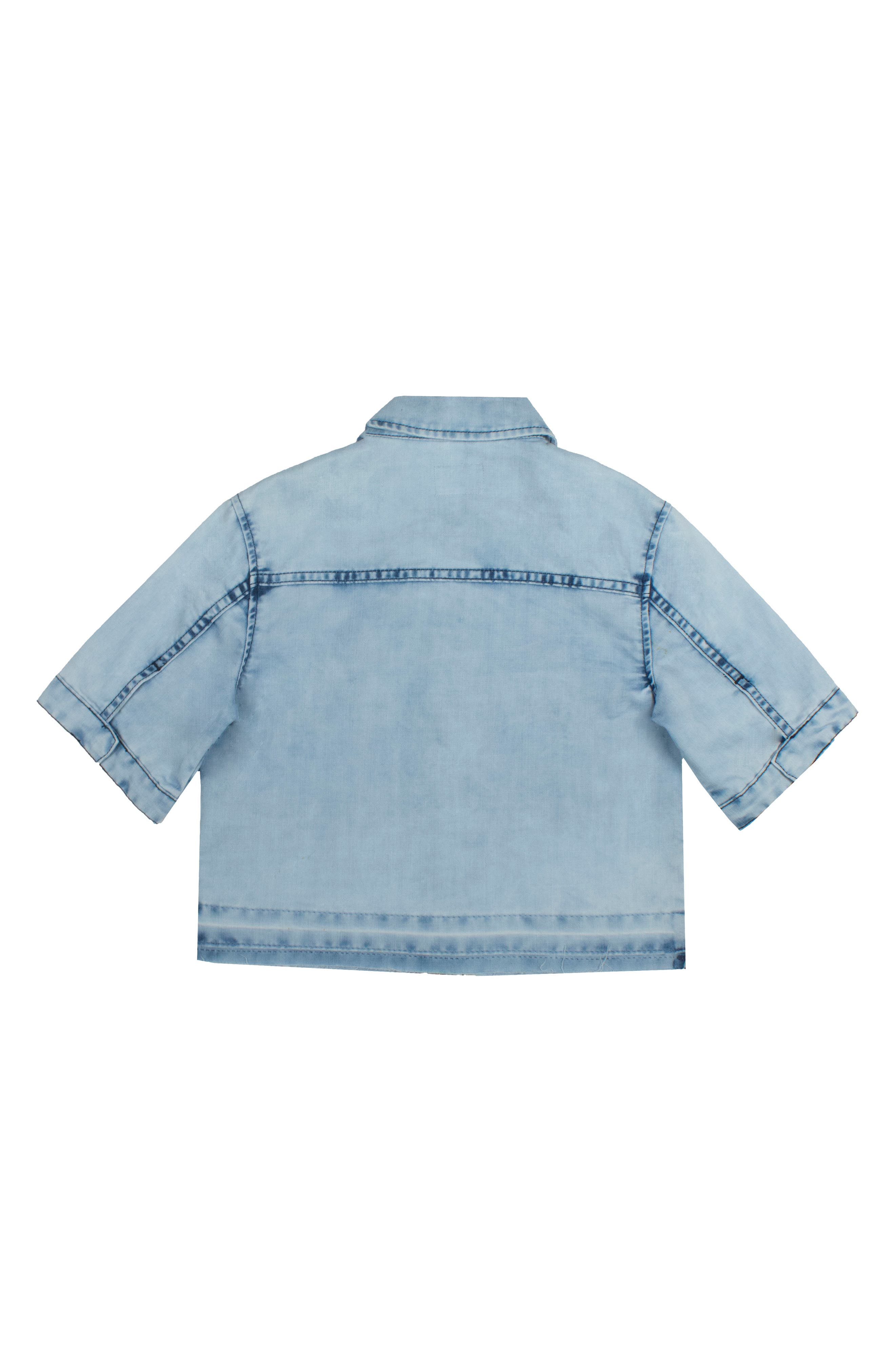 Addie Chambray Shirt,                             Alternate thumbnail 2, color,                             Crinkle Blue