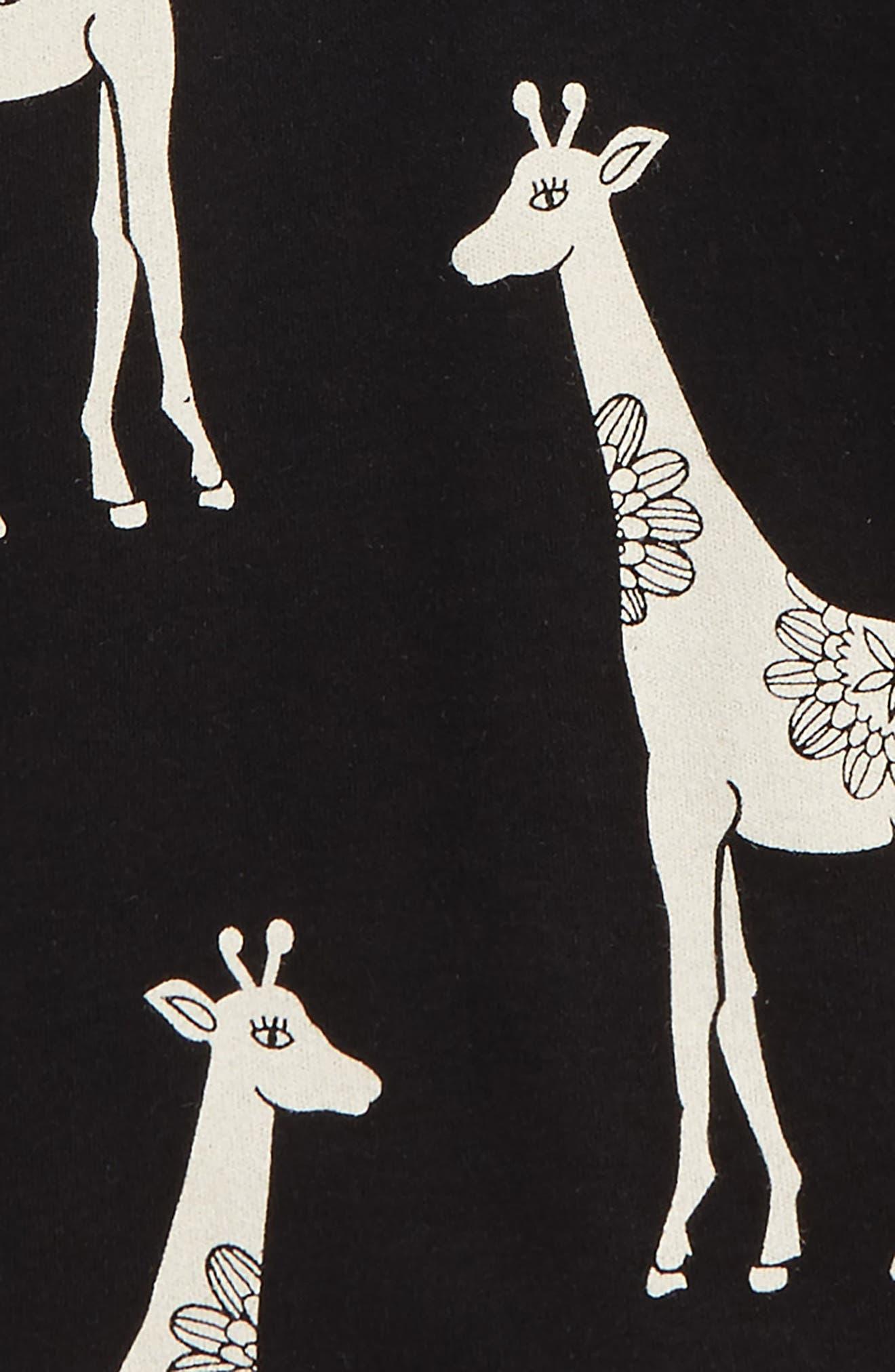 Alternate Image 2  - Masalababy Giraffe Organic Cotton Fitted Two-Piece Pajamas (Toddler Kids, Little Kids & Big Kids)