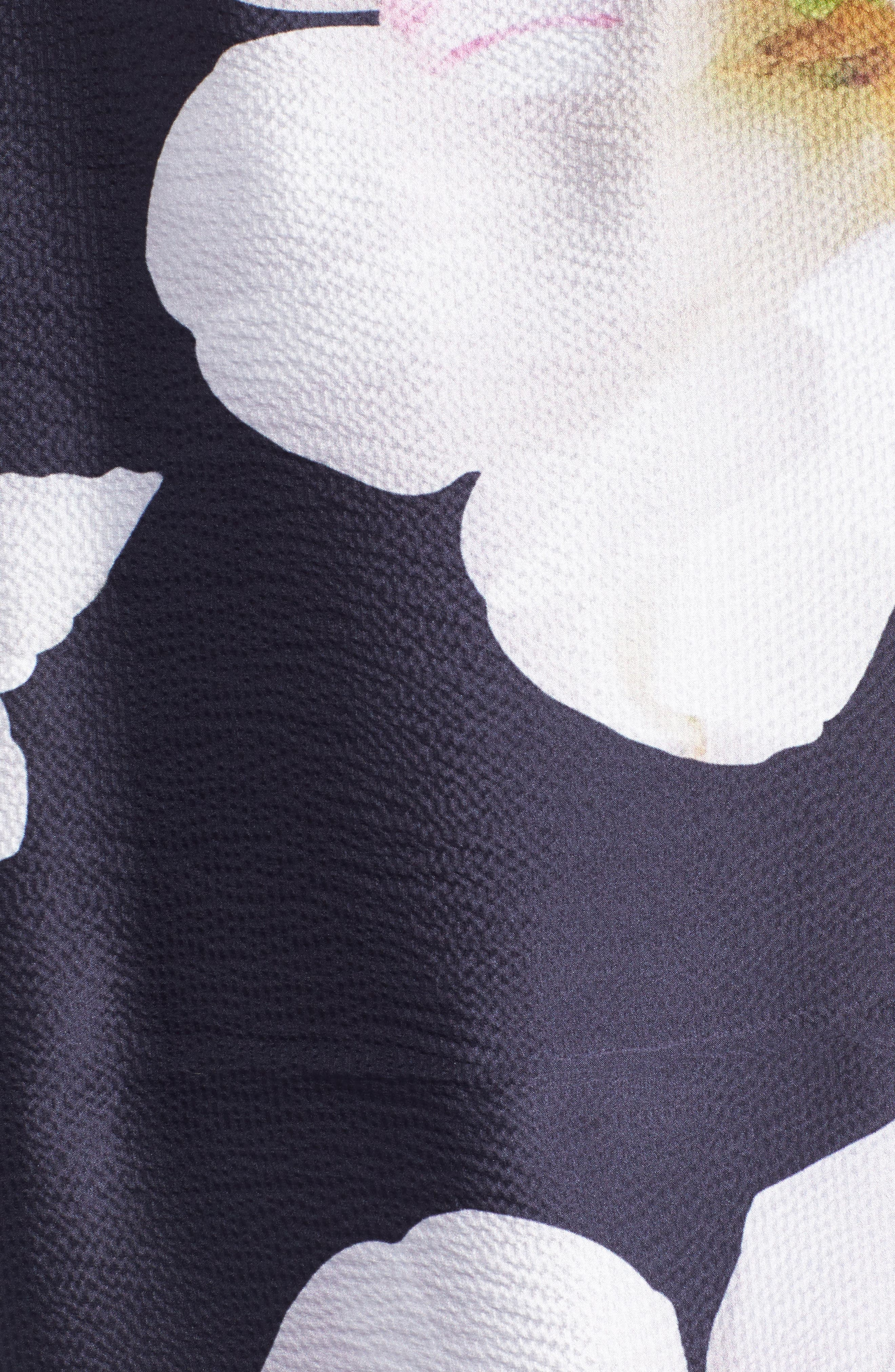 Gardenia Silk Cape Scarf,                             Alternate thumbnail 5, color,                             12-Dark Blue