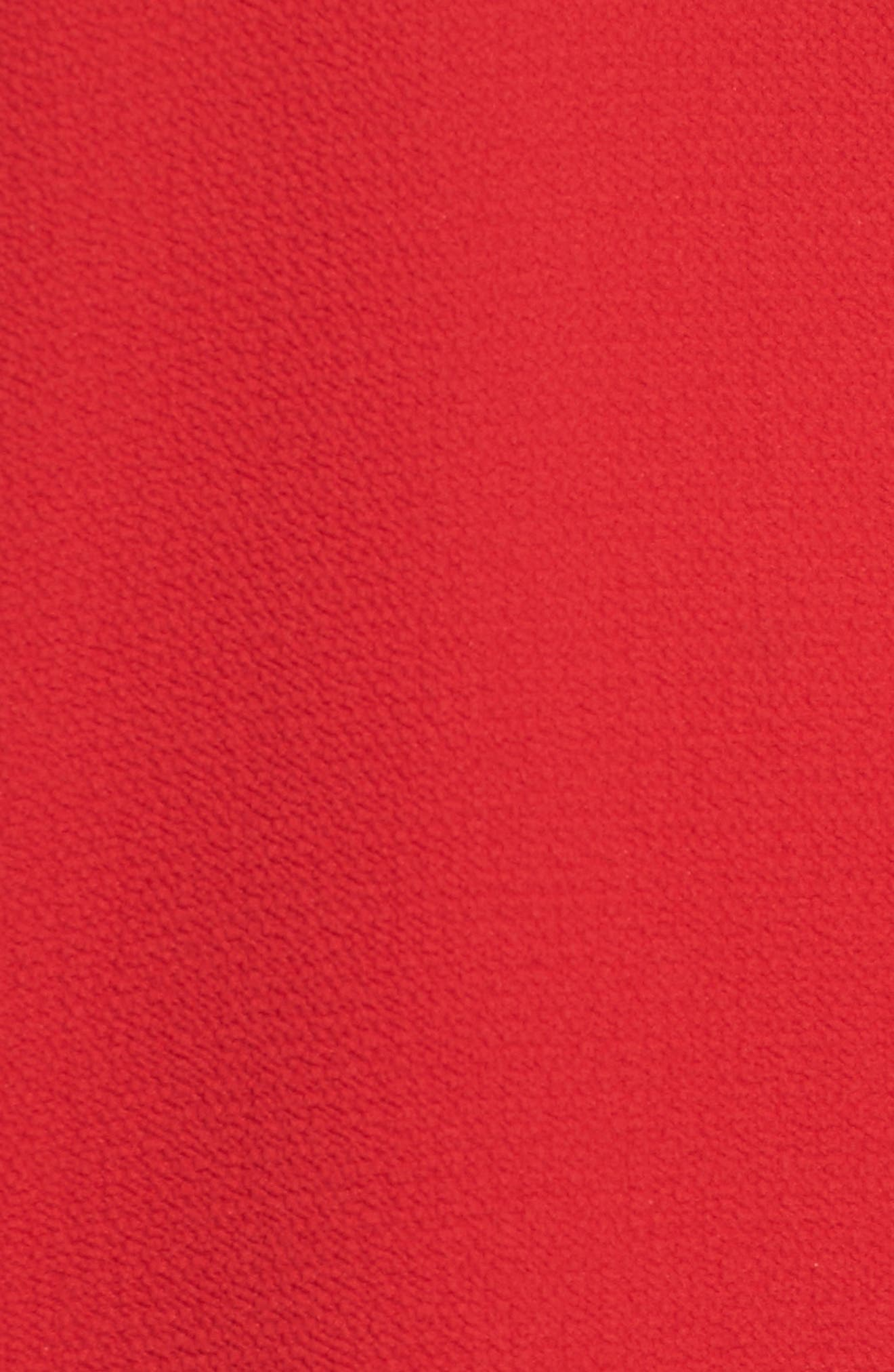 Cold Shoulder Ruffle Top,                             Alternate thumbnail 5, color,                             Crimson