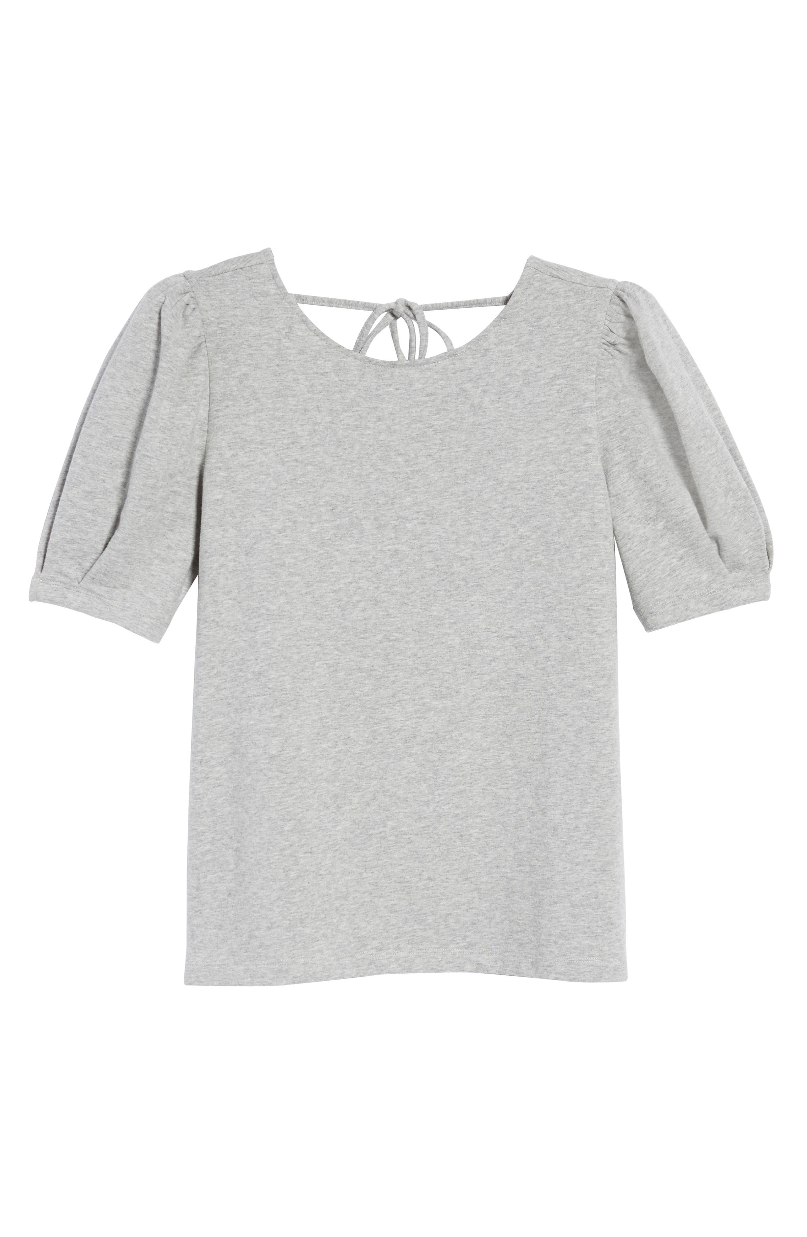 Tie Back Sweatshirt,                             Alternate thumbnail 6, color,                             Grey Heather