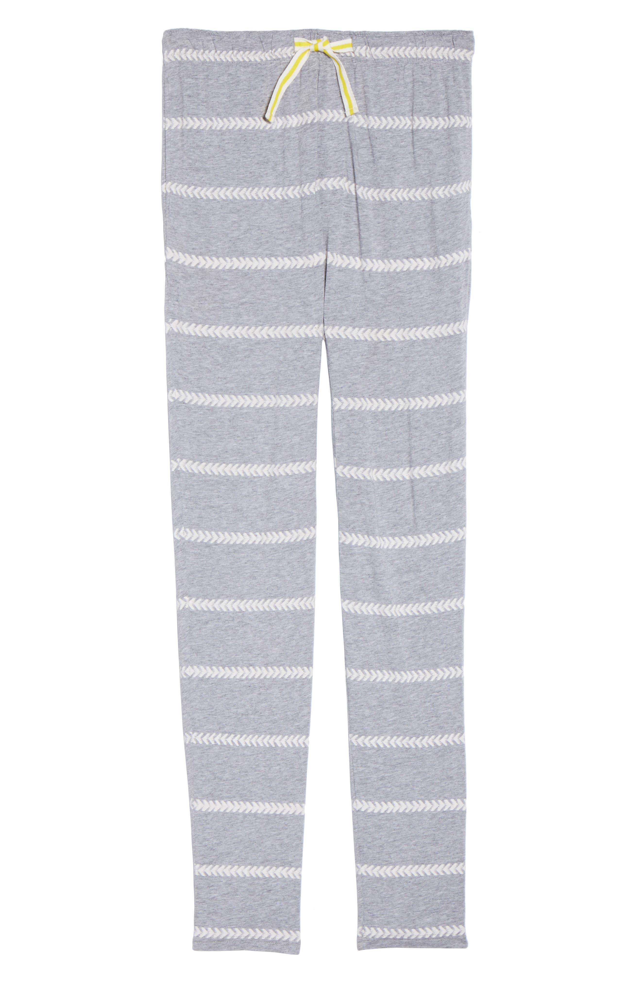 Alice Lounge Pants,                             Alternate thumbnail 5, color,                             Chevron Stripe Grey