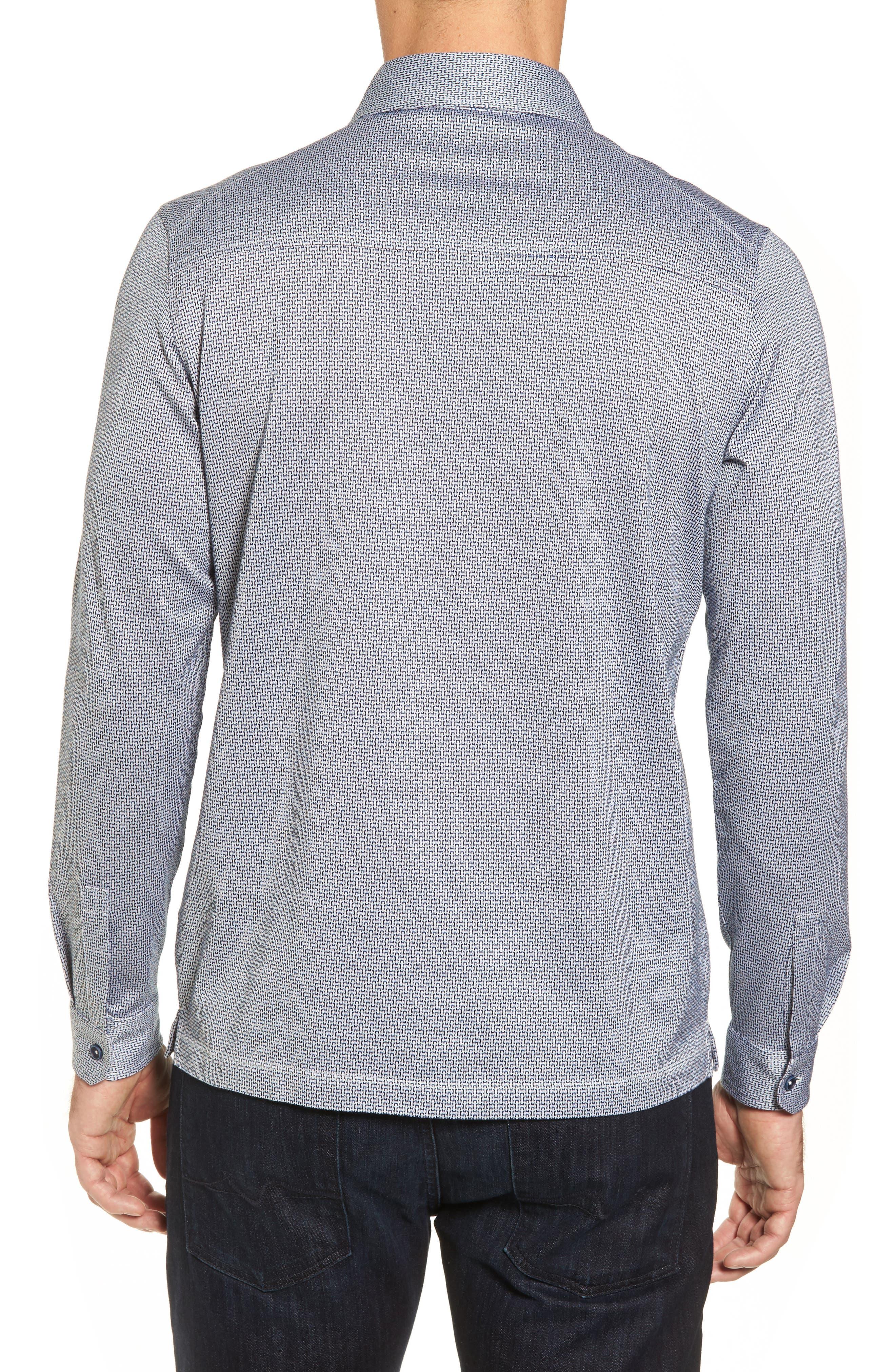 Alternate Image 2  - Bugatchi Print Knit Sport Shirt