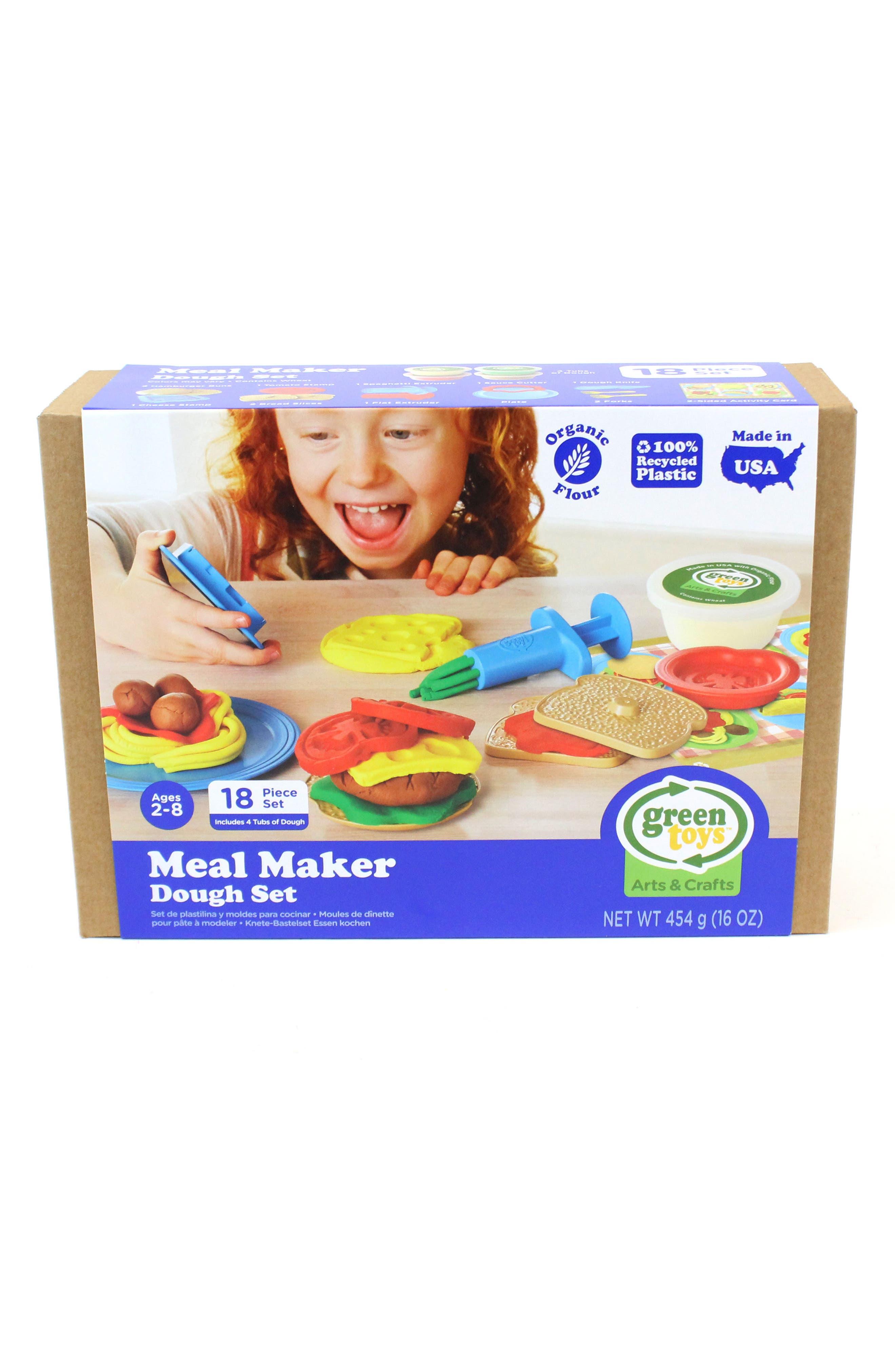 Alternate Image 1 Selected - Green Toys 18-Piece Plastic Meal Maker Dough Set