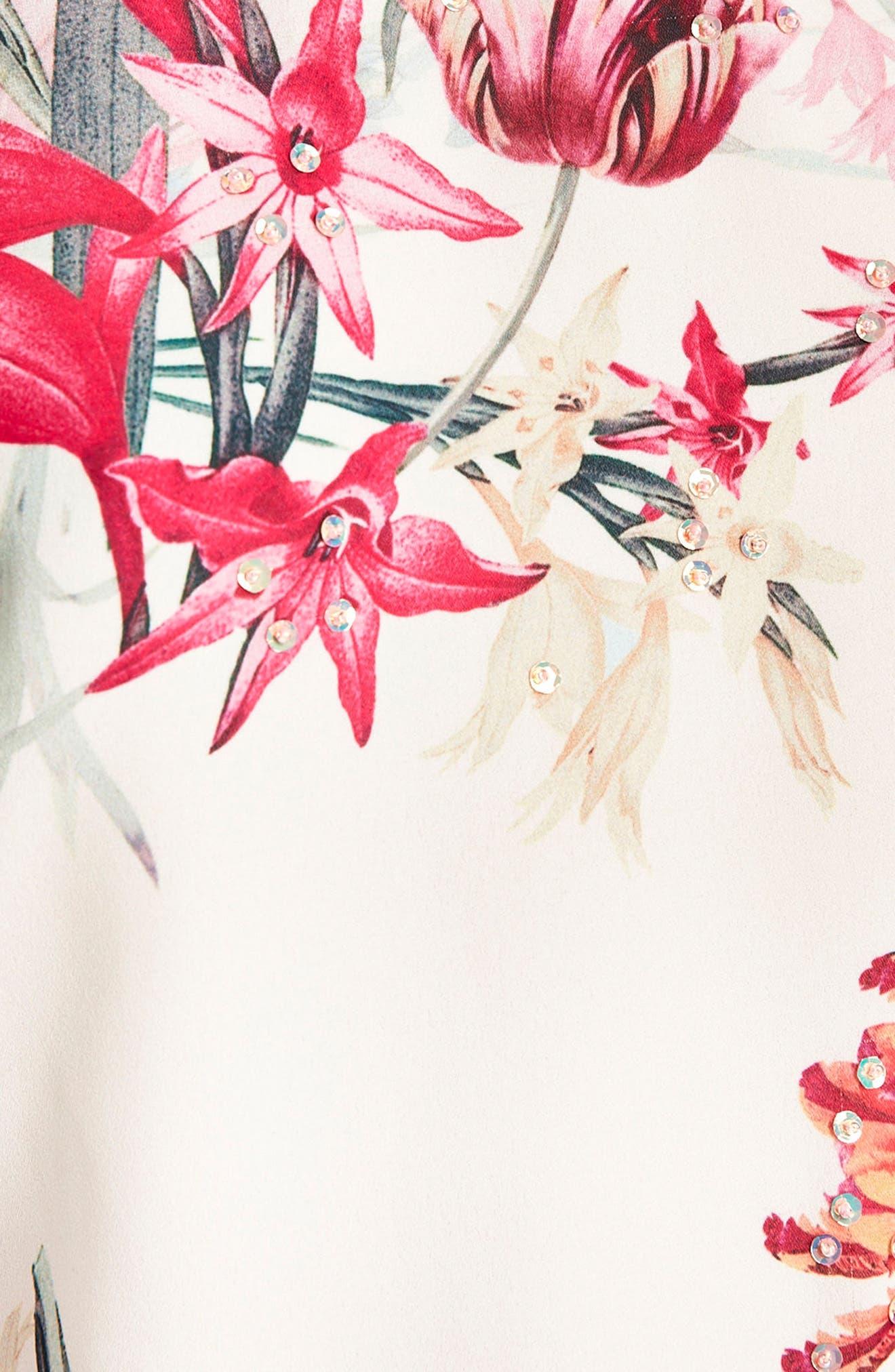Alternate Image 3  - Wallis Tulip Twinkle Beaded Ruffle Sleeve Top