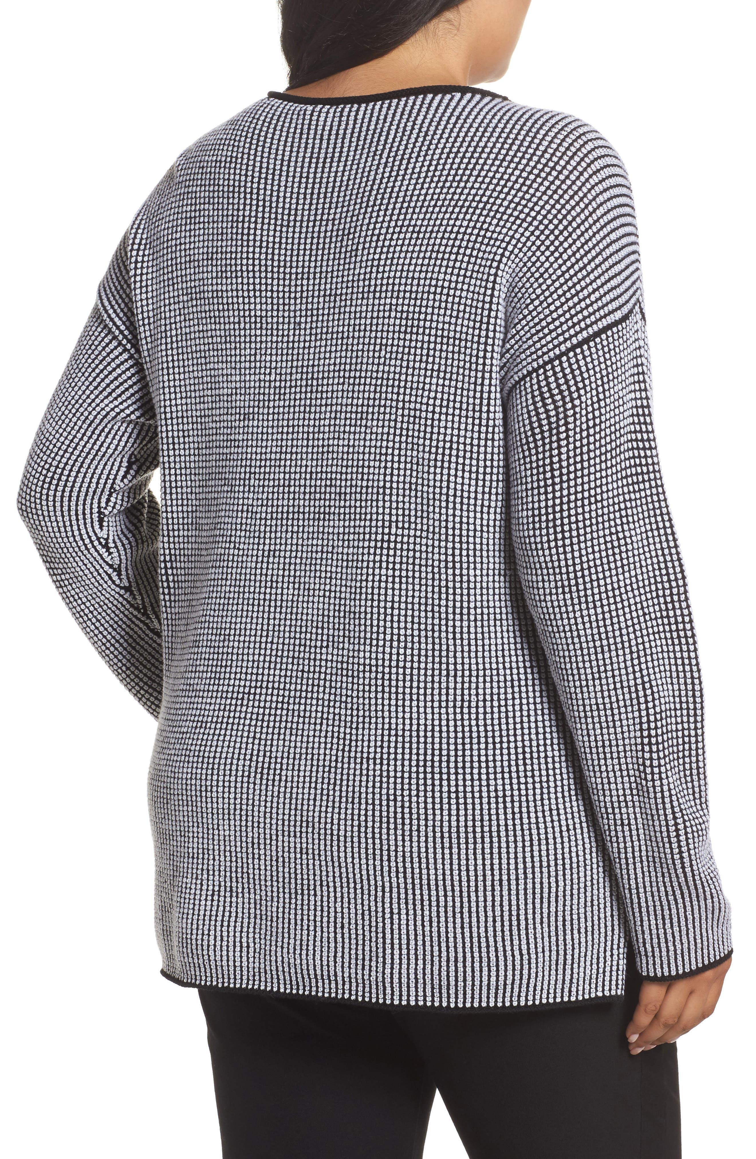 Alternate Image 2  - Eileen Fisher Textured Merino Wool Sweater (Plus Size)