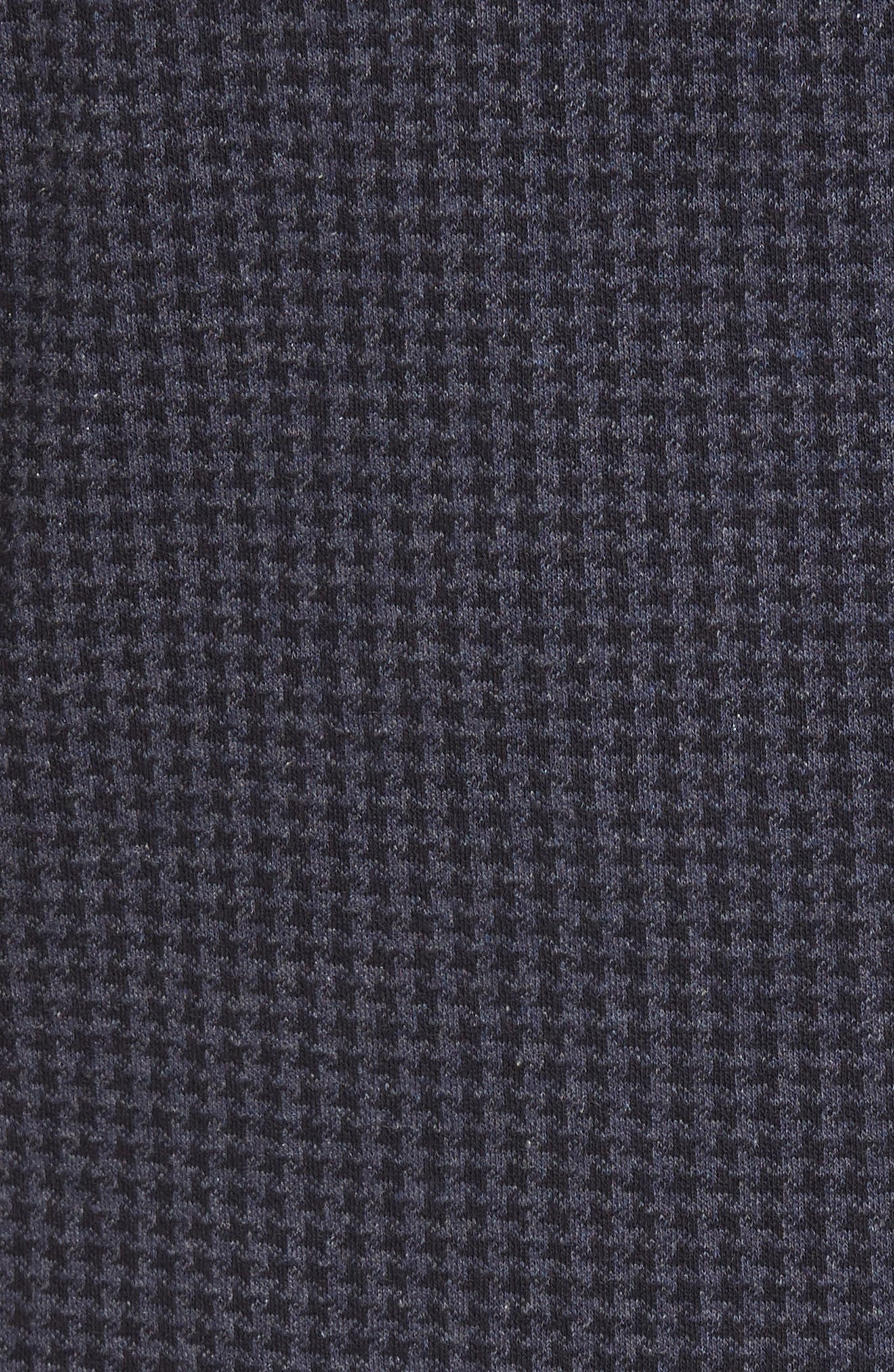 Houndstooth Cotton Knit Blazer,                             Alternate thumbnail 5, color,                             Navy