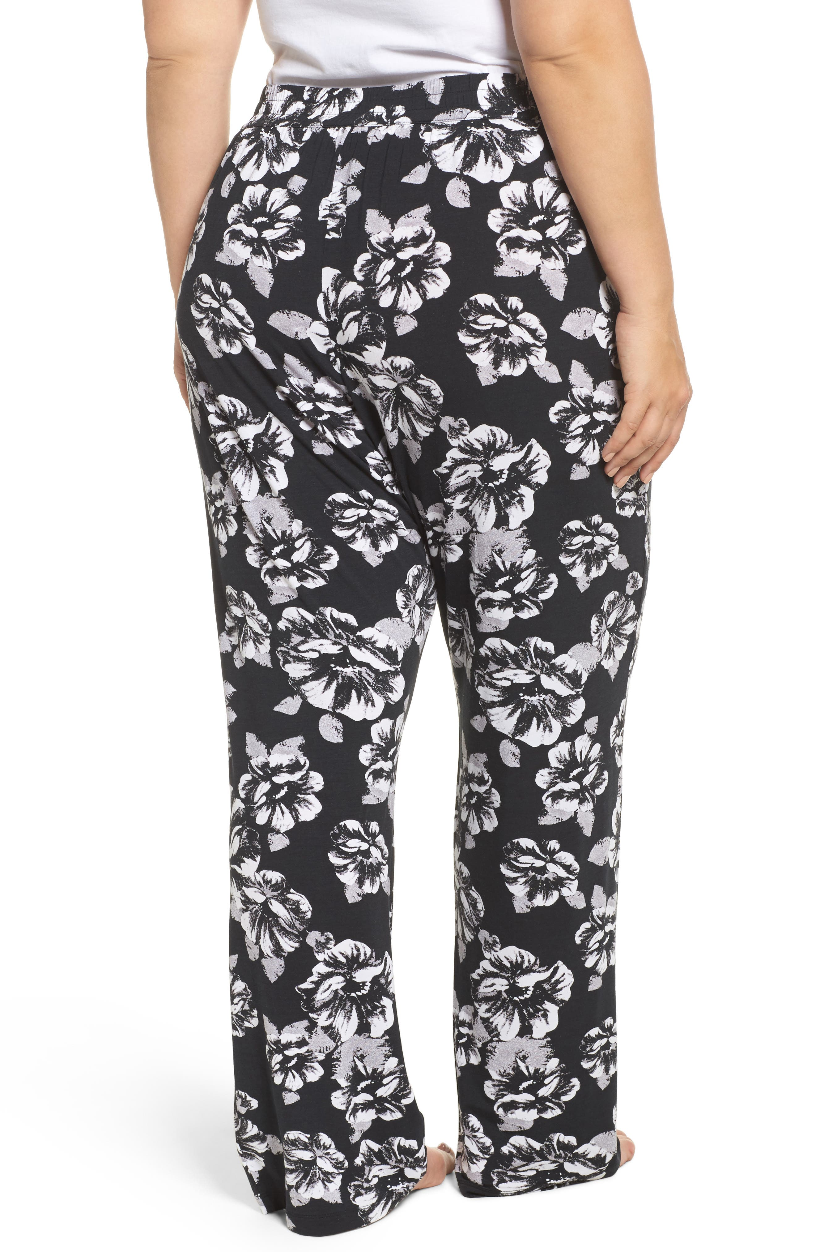 Pajama Pants,                             Alternate thumbnail 2, color,                             Black