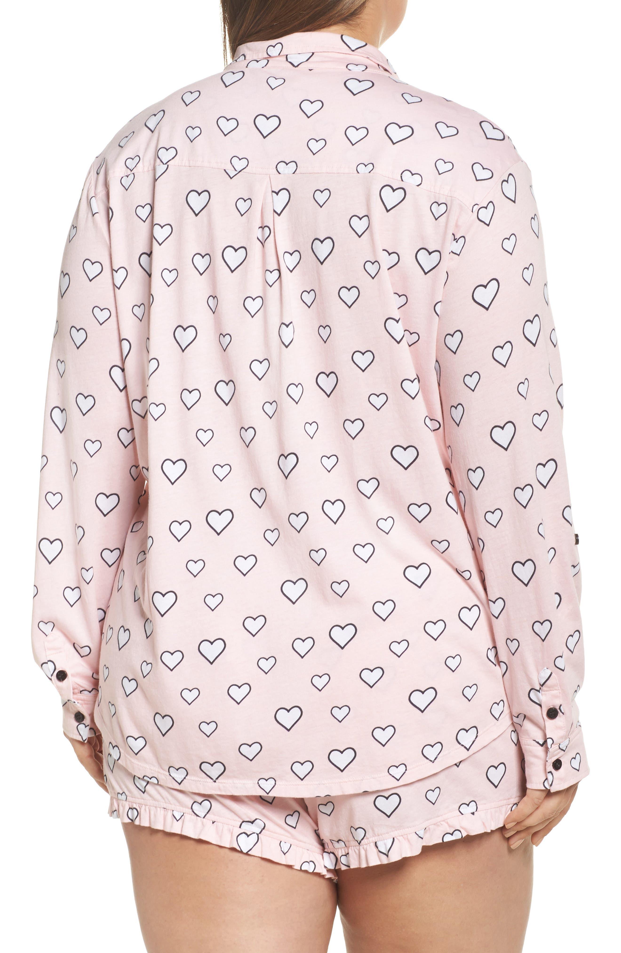 Alternate Image 2  - PJ Salvage Heart Print Short Pajamas (Plus Size)
