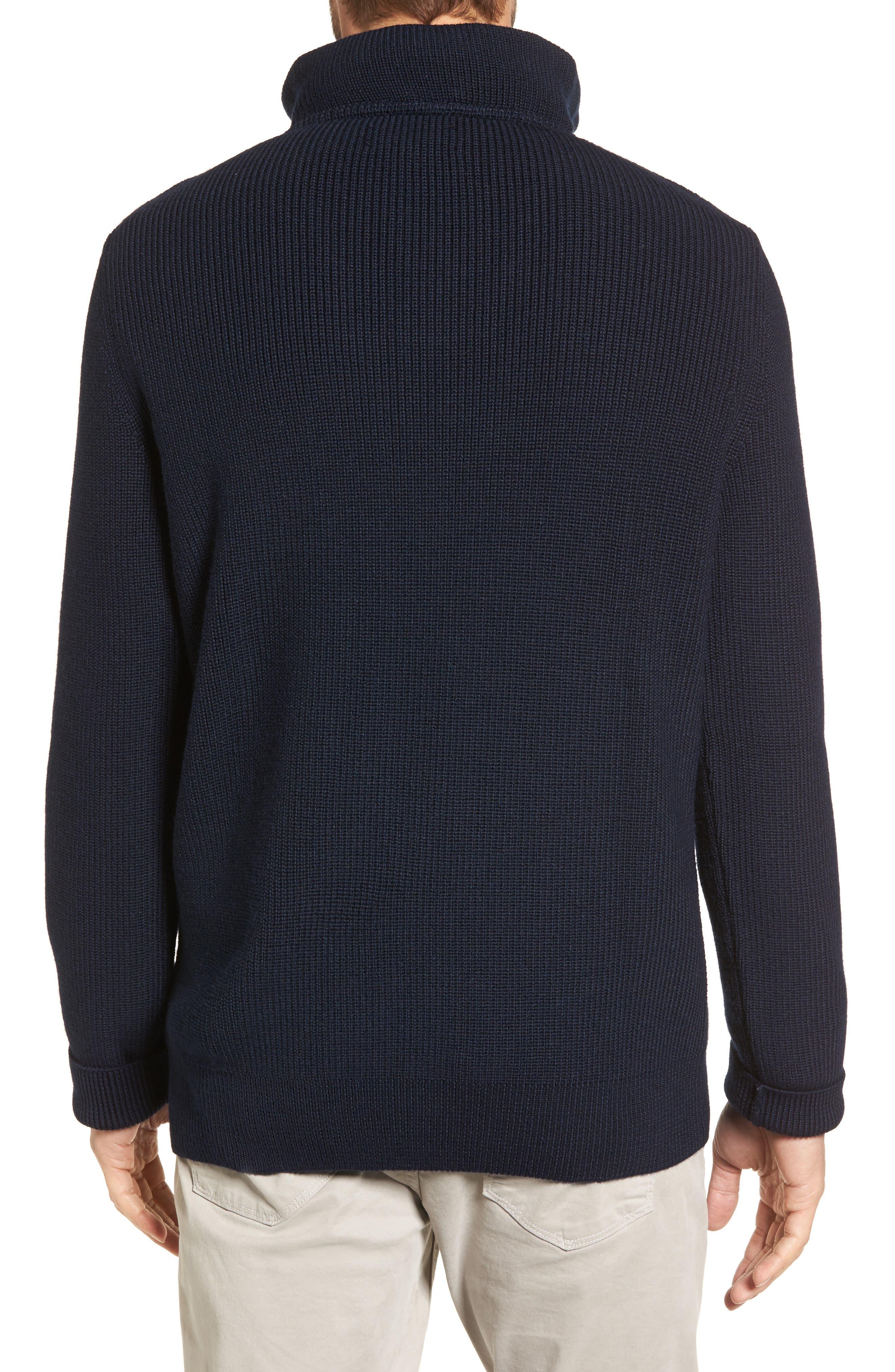 Alternate Image 2  - Nordstrom Men's Shop Ribbed Quarter Zip Sweater