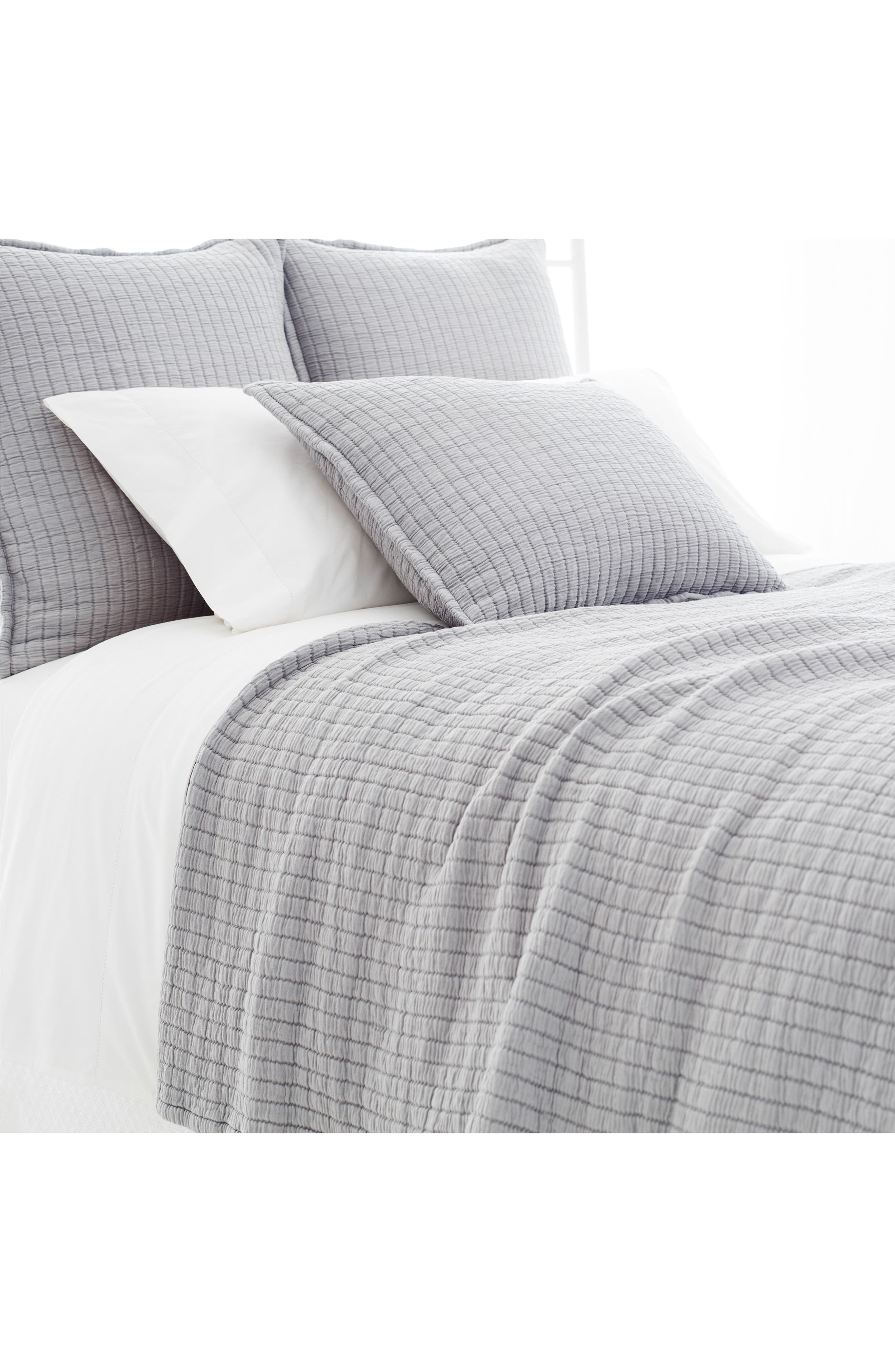 Matelassé Coverlet,                         Main,                         color, Grey