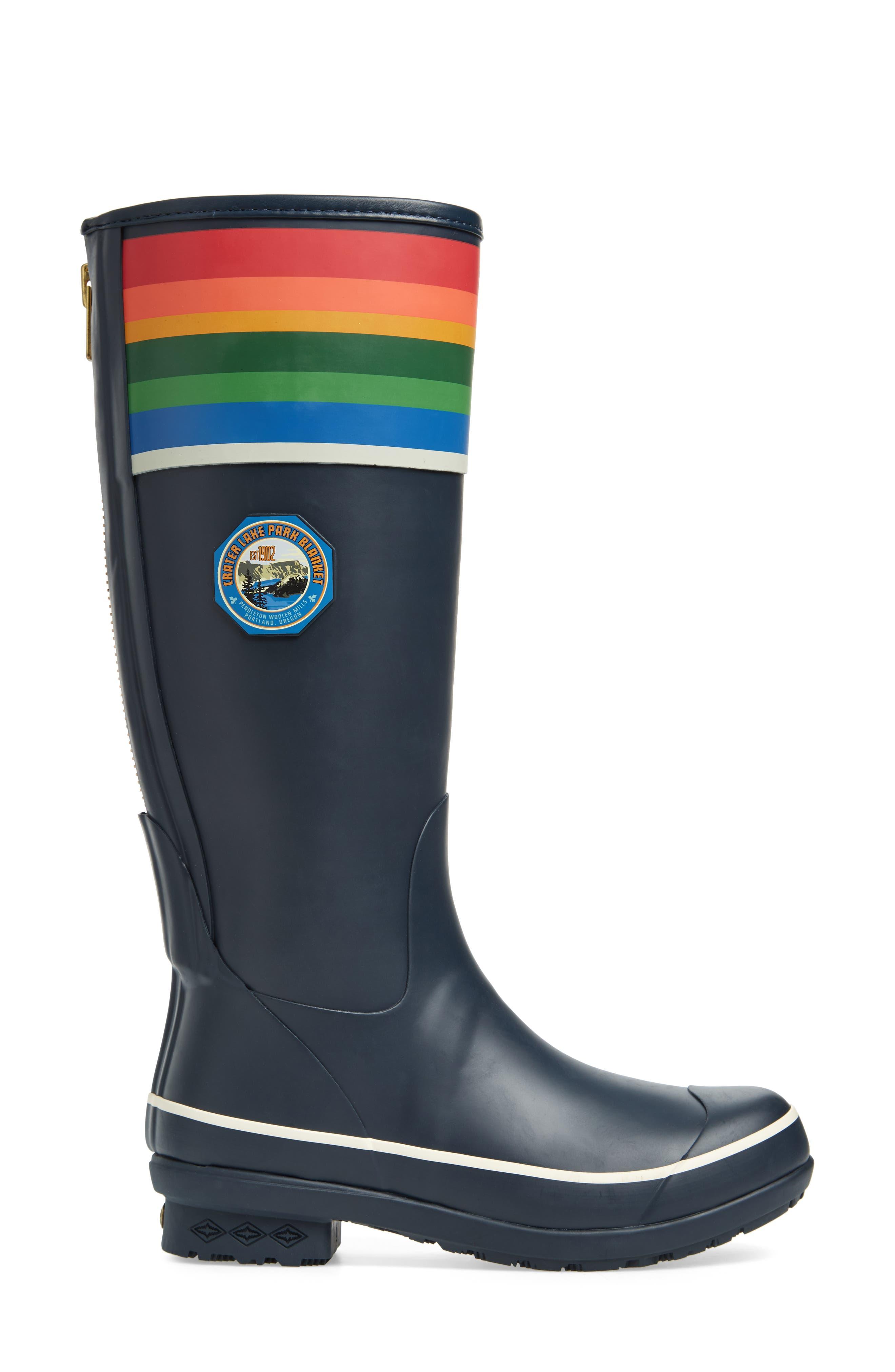 Pendleton Crater Lake National Park Tall Rain Boot,                             Alternate thumbnail 3, color,                             Blue