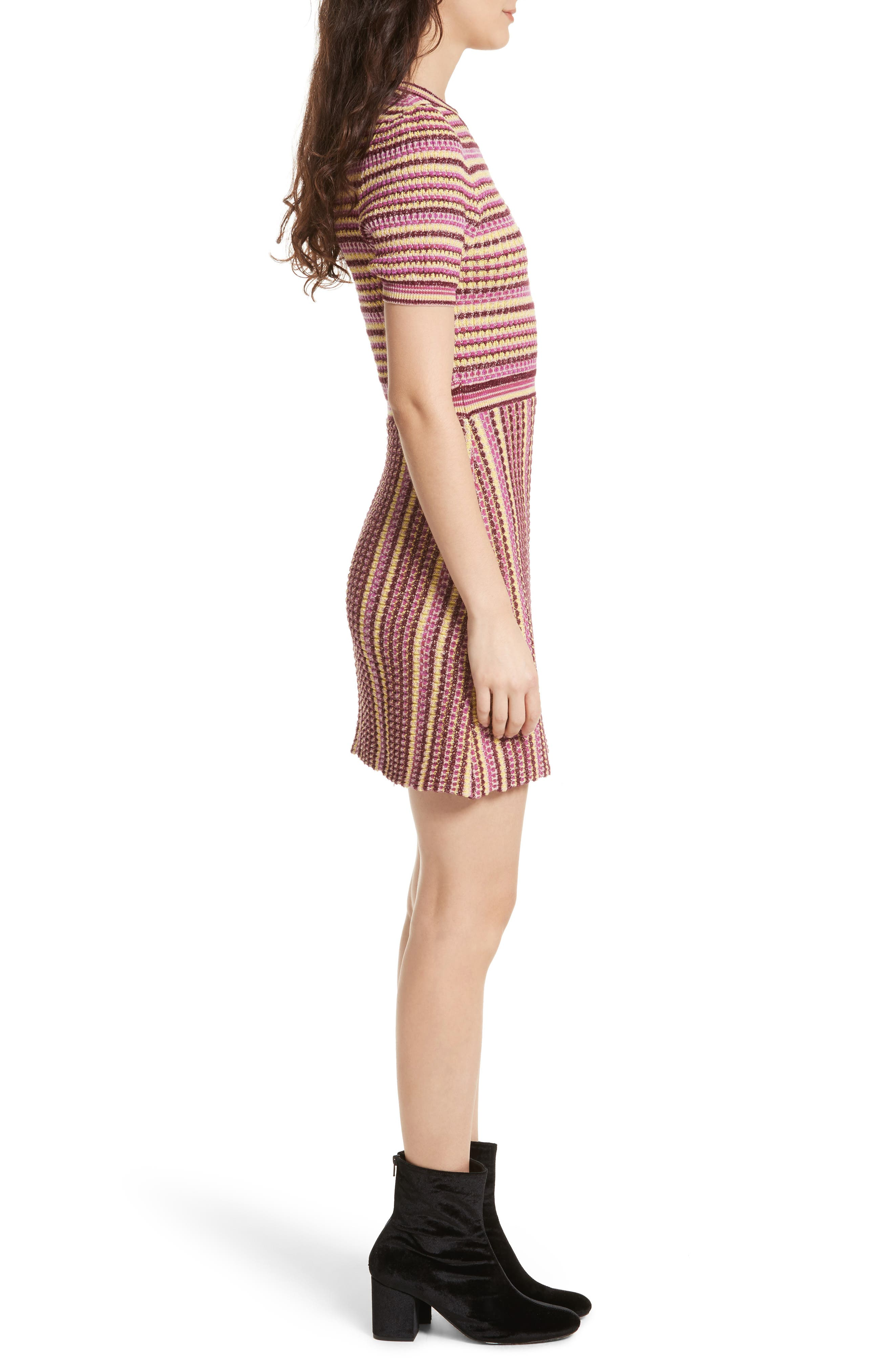 Into You Minidress,                             Alternate thumbnail 3, color,                             Pink Combo