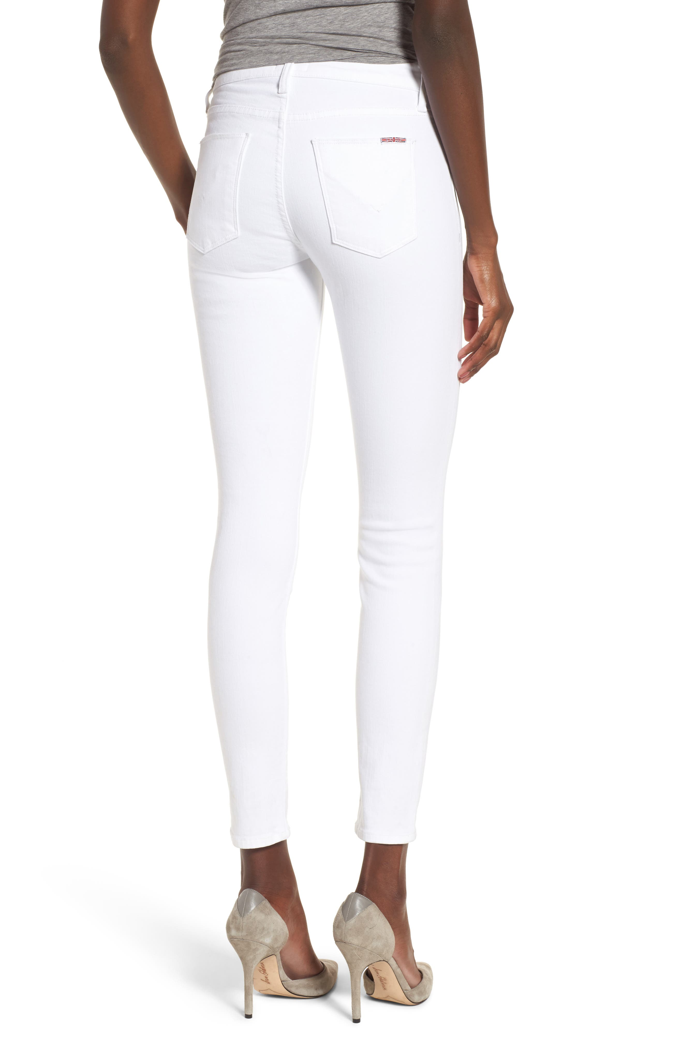 Nico Ankle Super Skinny Jeans,                             Alternate thumbnail 2, color,                             Optical White