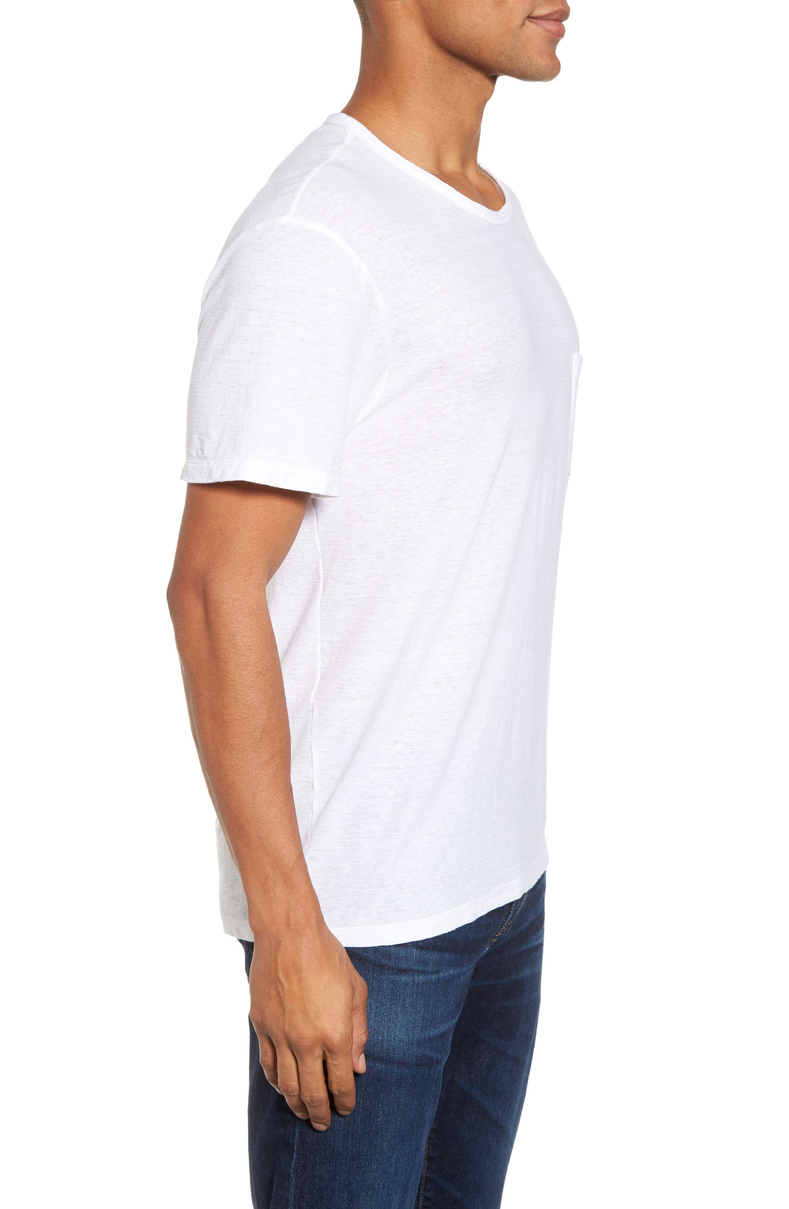 Alternate Image 3  - James Perse Cotton & Linen Pocket T-Shirt