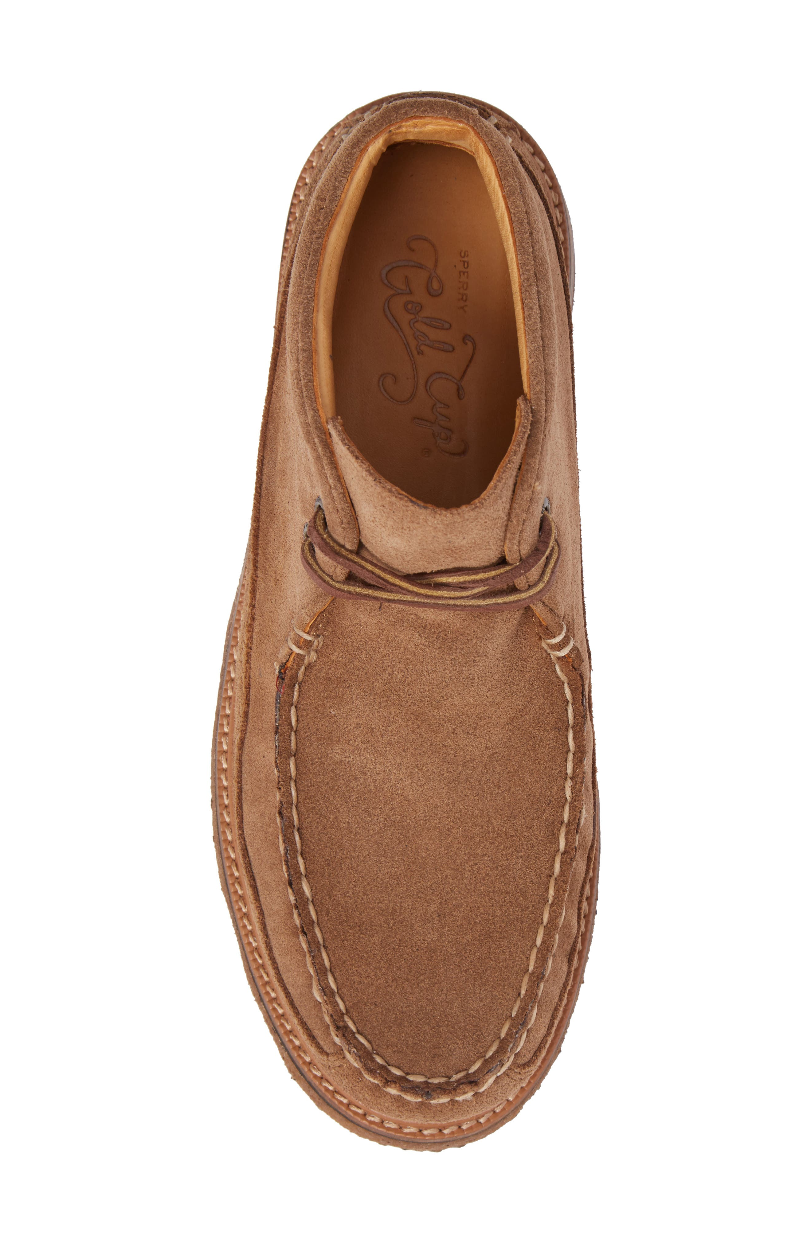 Gold Cup Chukka Boot,                             Alternate thumbnail 5, color,                             Caramel Suede