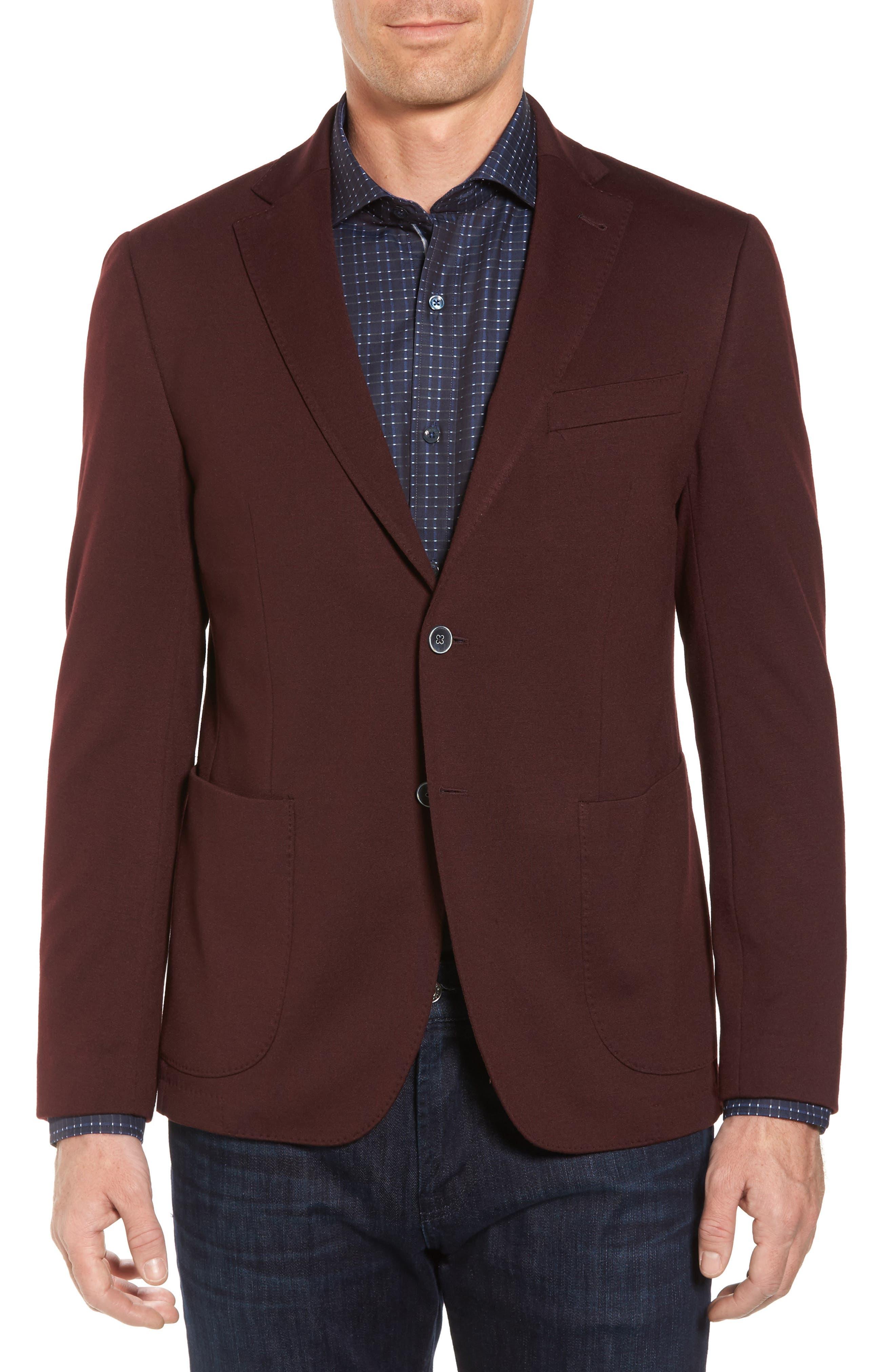 Regular Fit Blazer,                         Main,                         color, Burgundy