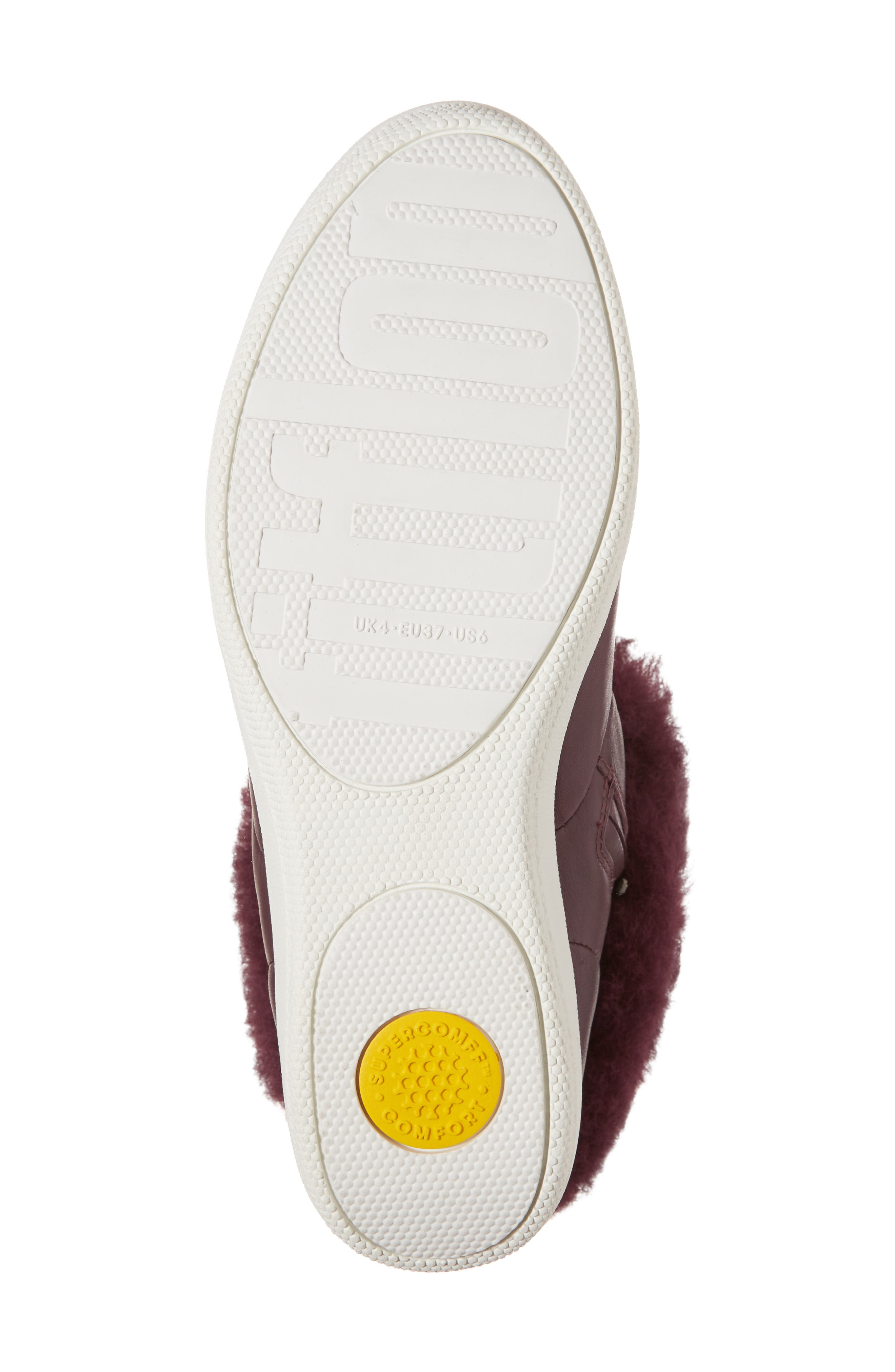 Skatebootie<sup>™</sup> with Genuine Shearling Cuff,                             Alternate thumbnail 6, color,                             Deep Plum