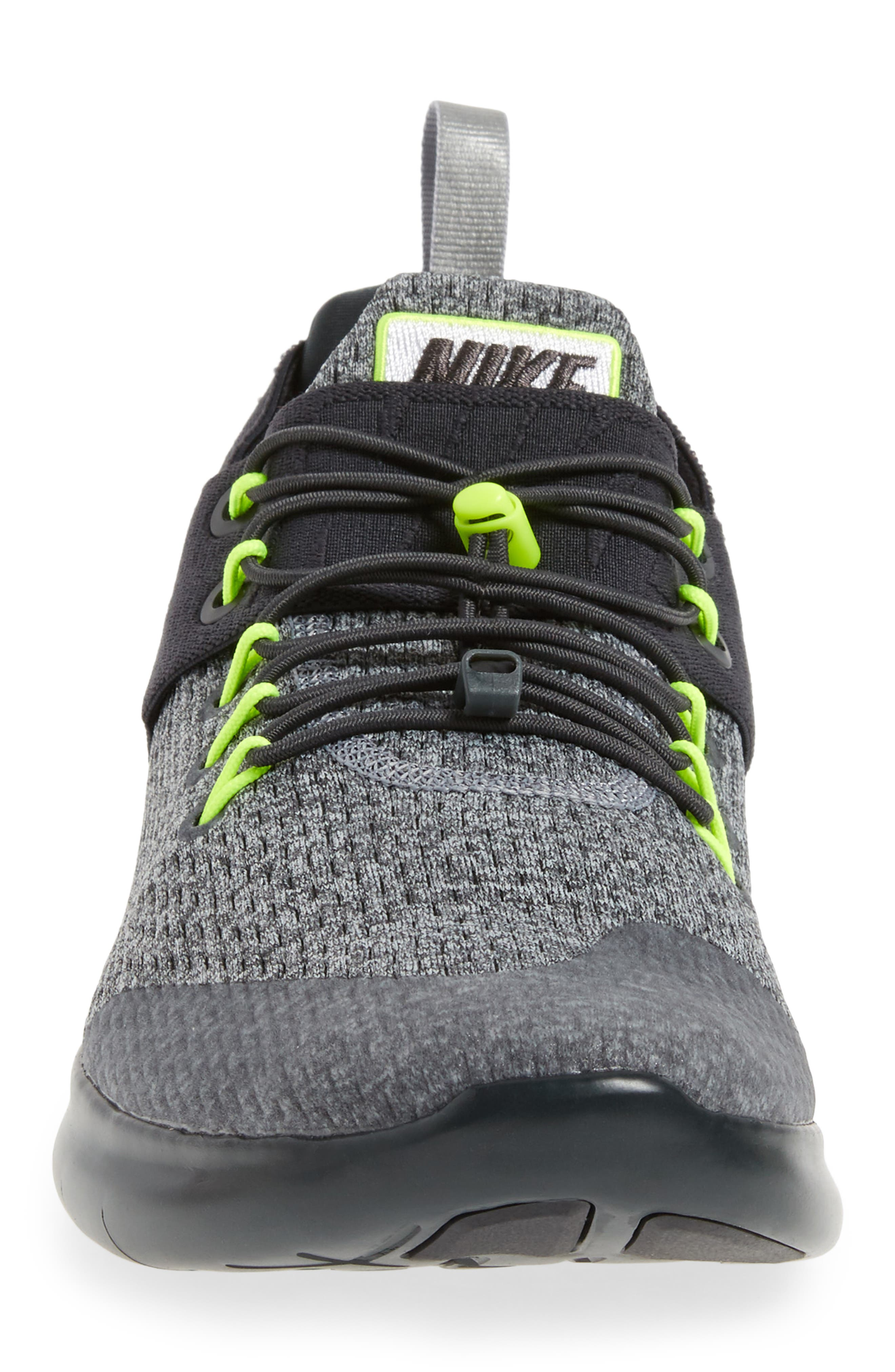 Free RN Commuter 2017 Running Shoe,                             Alternate thumbnail 4, color,                             Anthracite/Barely Volt/Grey