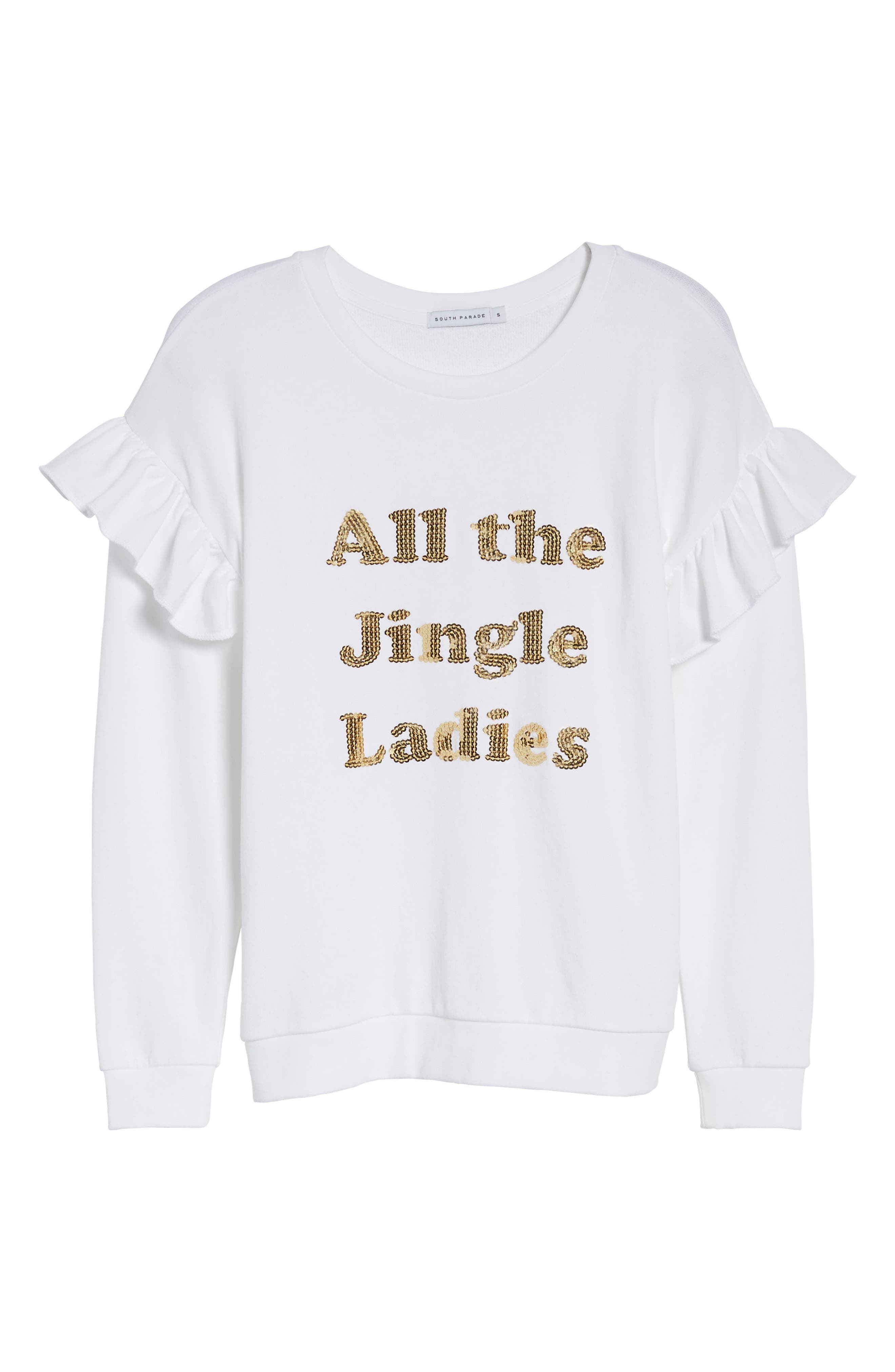 Alternate Image 6  - South Parade All the Jingle Ladies Sweatshirt