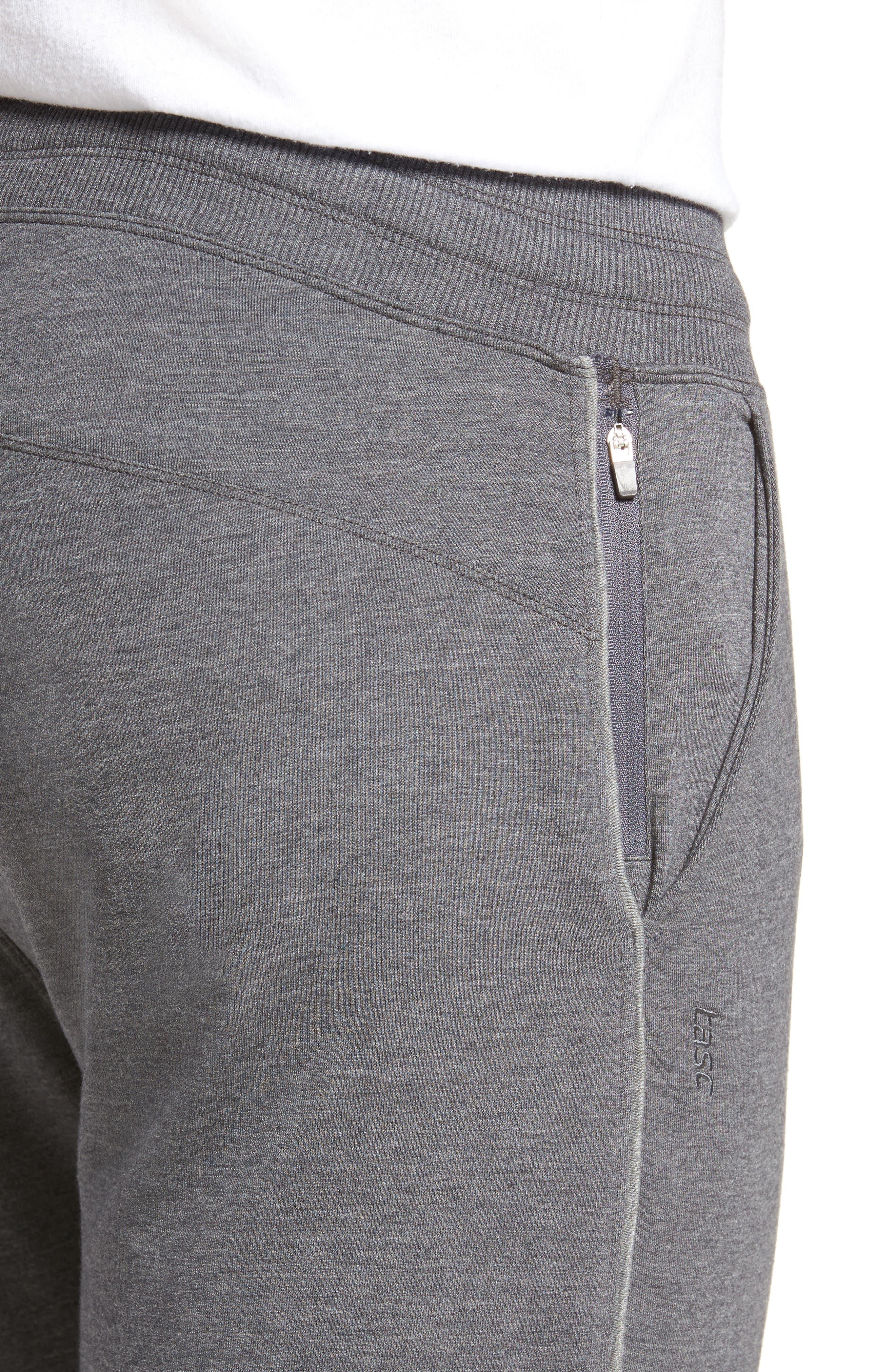 Legacy Sweatpants,                             Alternate thumbnail 4, color,                             Black Heather