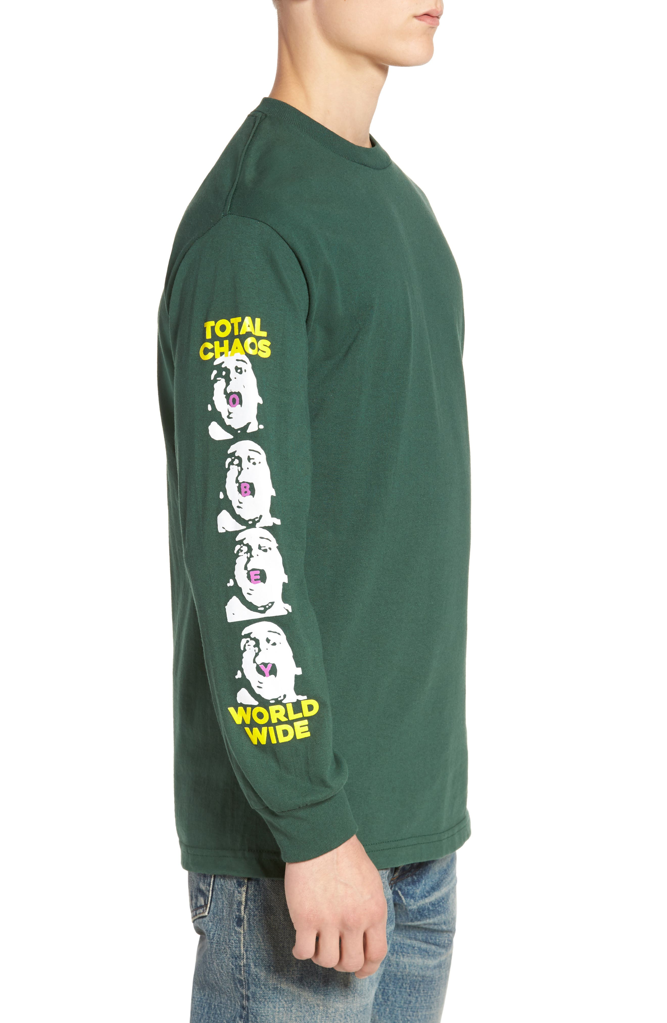 Total Chaos T-Shirt,                             Alternate thumbnail 3, color,                             Forrest Green