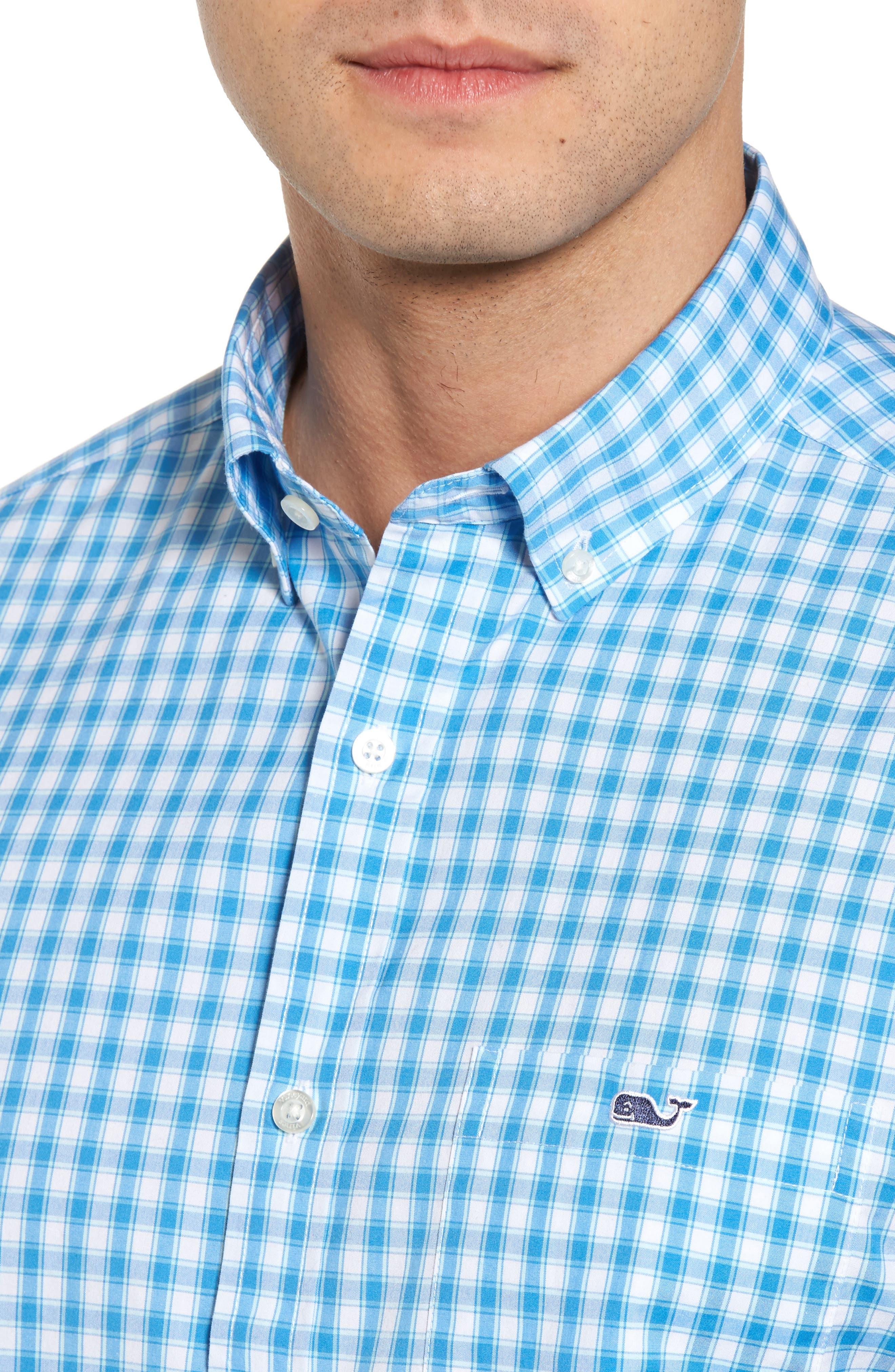 Alternate Image 4  - vineyard vines Tucker Classic Fit Check Sport Shirt