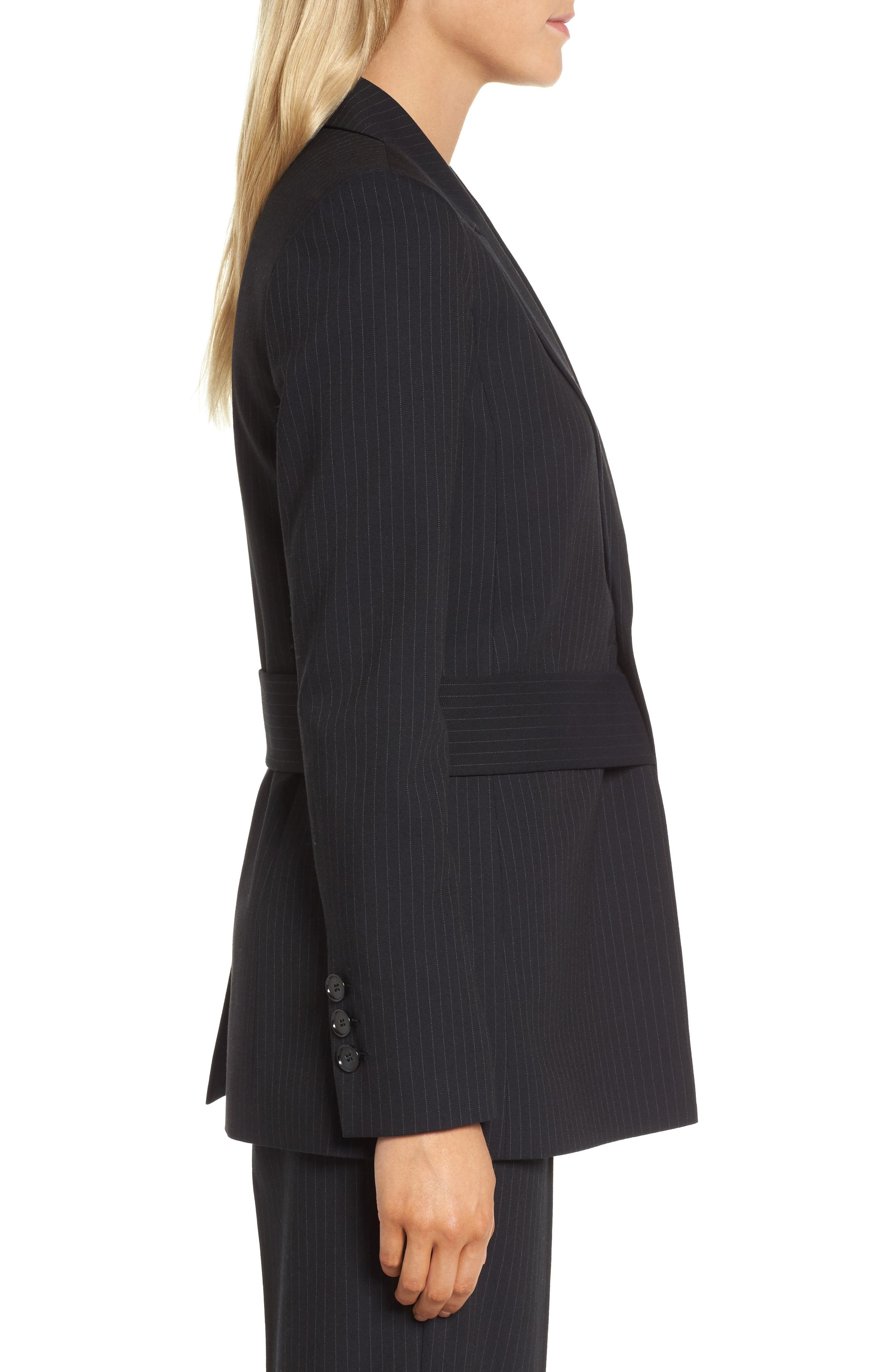 Pinstripe Suit Jacket,                             Alternate thumbnail 4, color,                             Navy Night Pinstripe