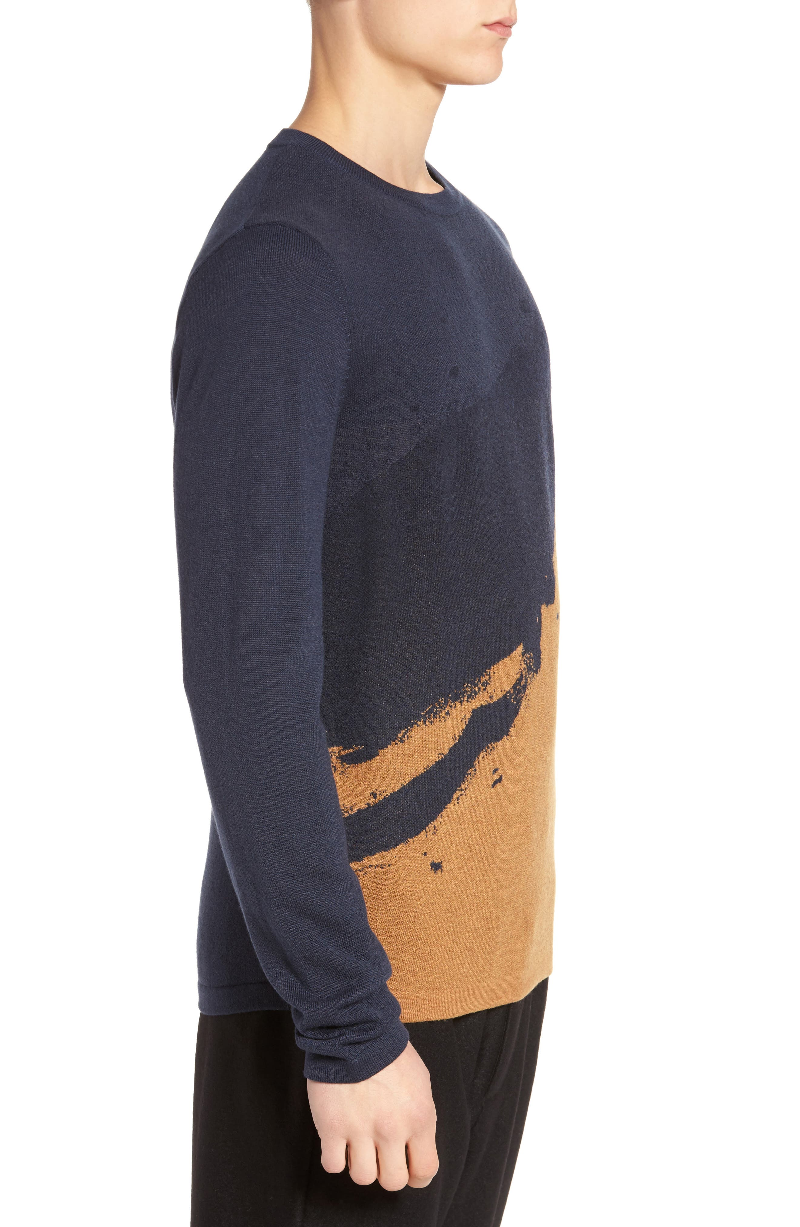 Anotny Morato Pattern Sweater,                             Alternate thumbnail 3, color,                             Soft Blue