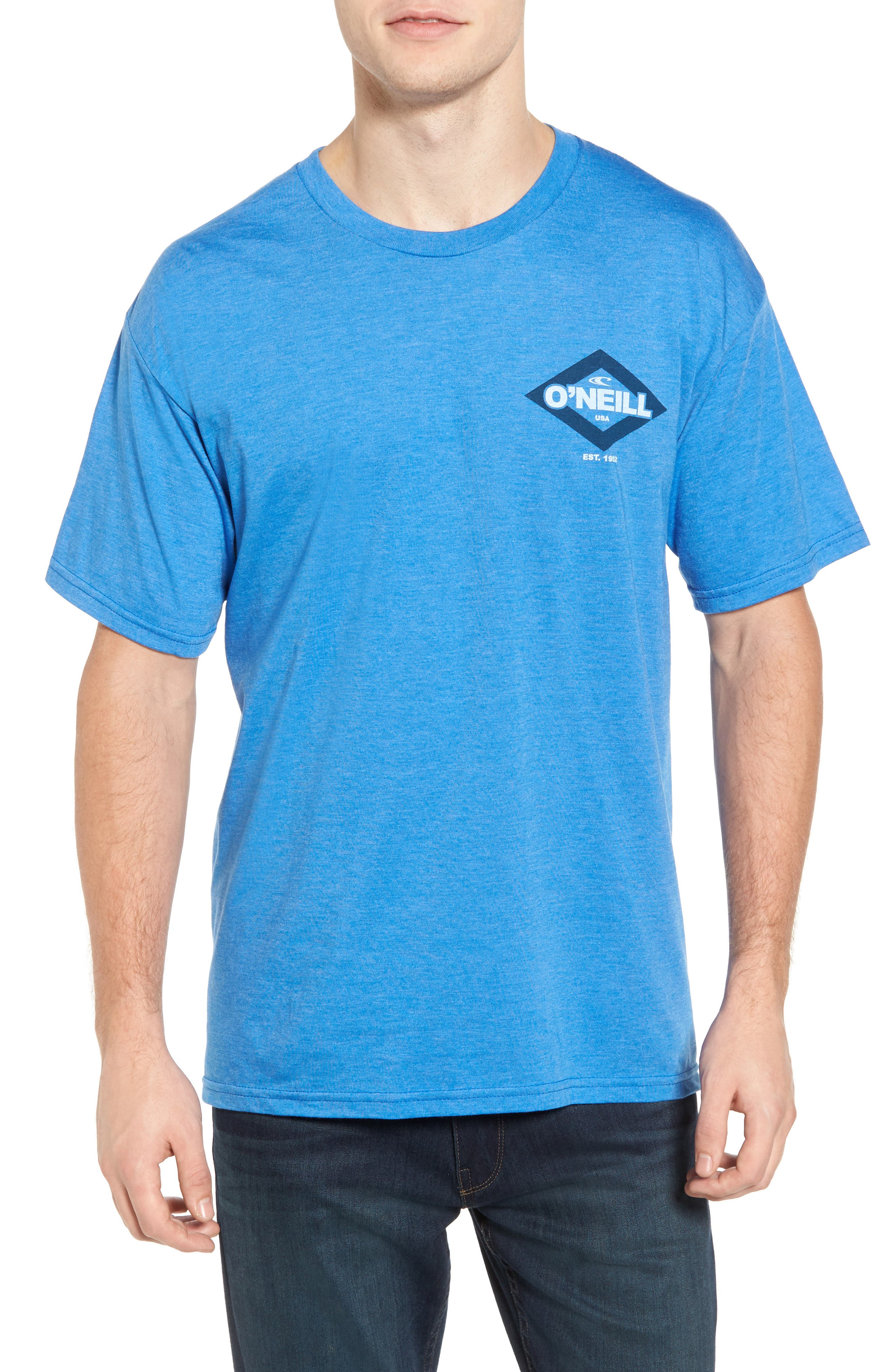 Logo Graphic T-Shirt,                         Main,                         color, Royal Heather