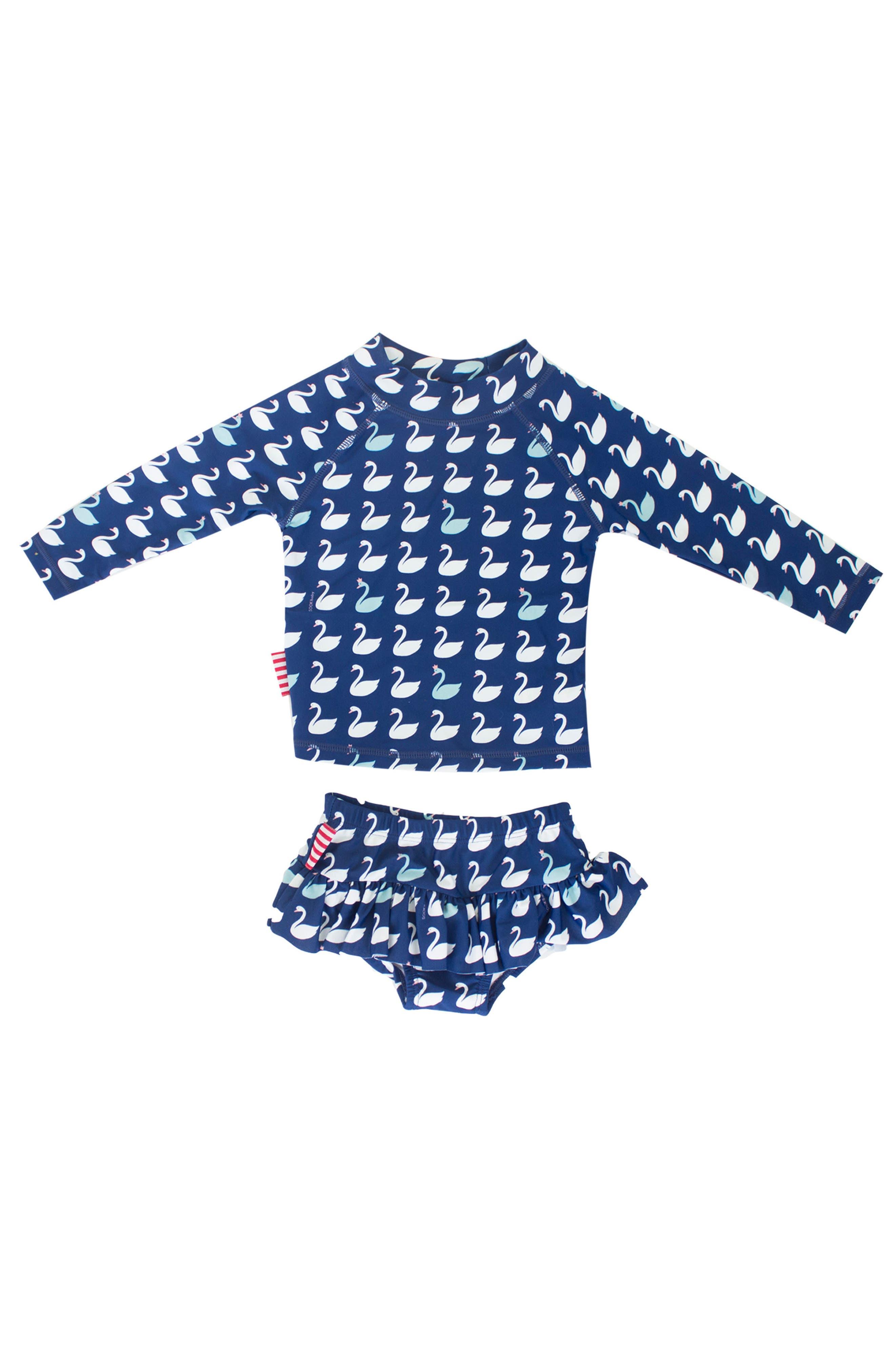 SOOKIbaby Two-Piece Rashguard Swimsuit (Baby Girls)