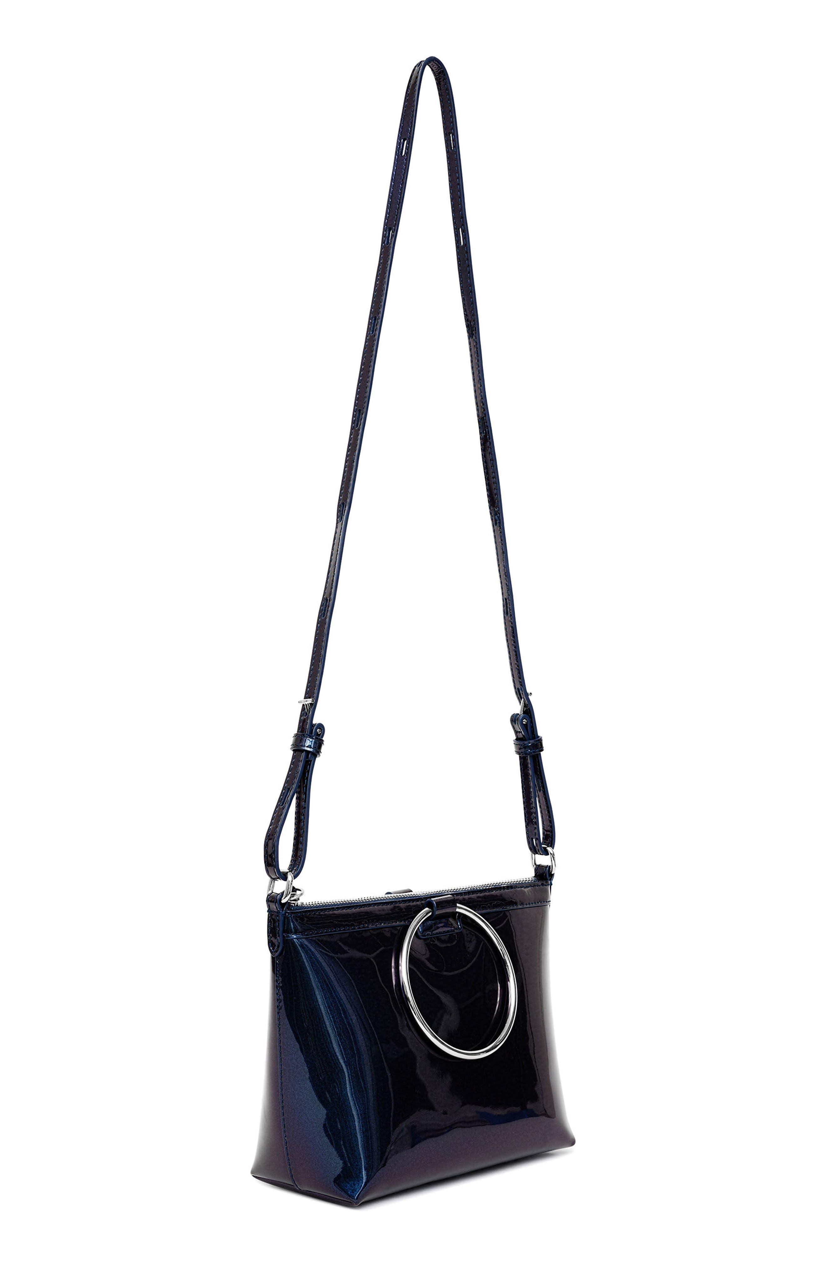 Iridescent Ring Crossbody Bag,                             Alternate thumbnail 2, color,                             Galaxy Navy