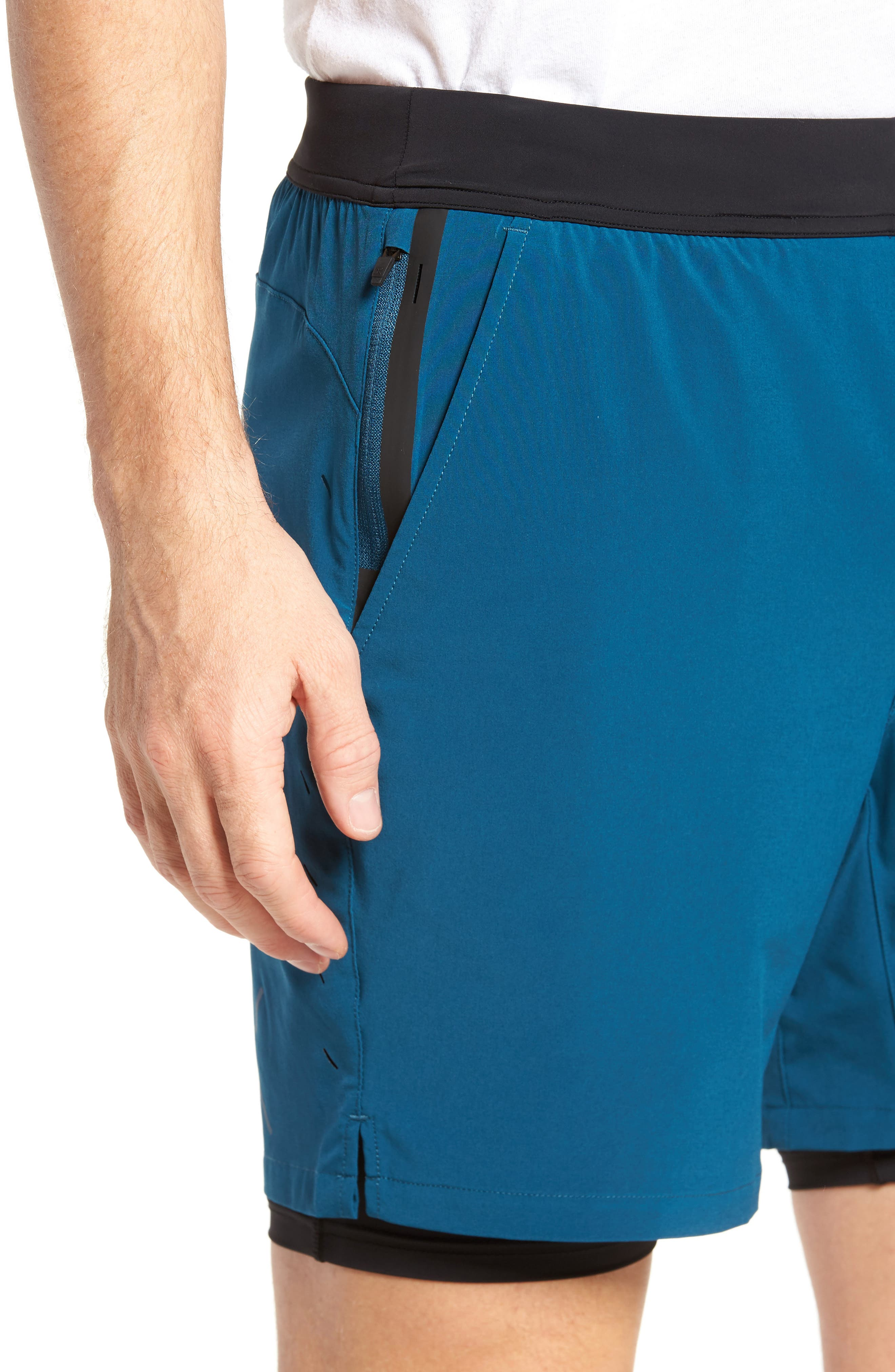 Interval Athletic Shorts,                             Alternate thumbnail 4, color,                             Dark Teal