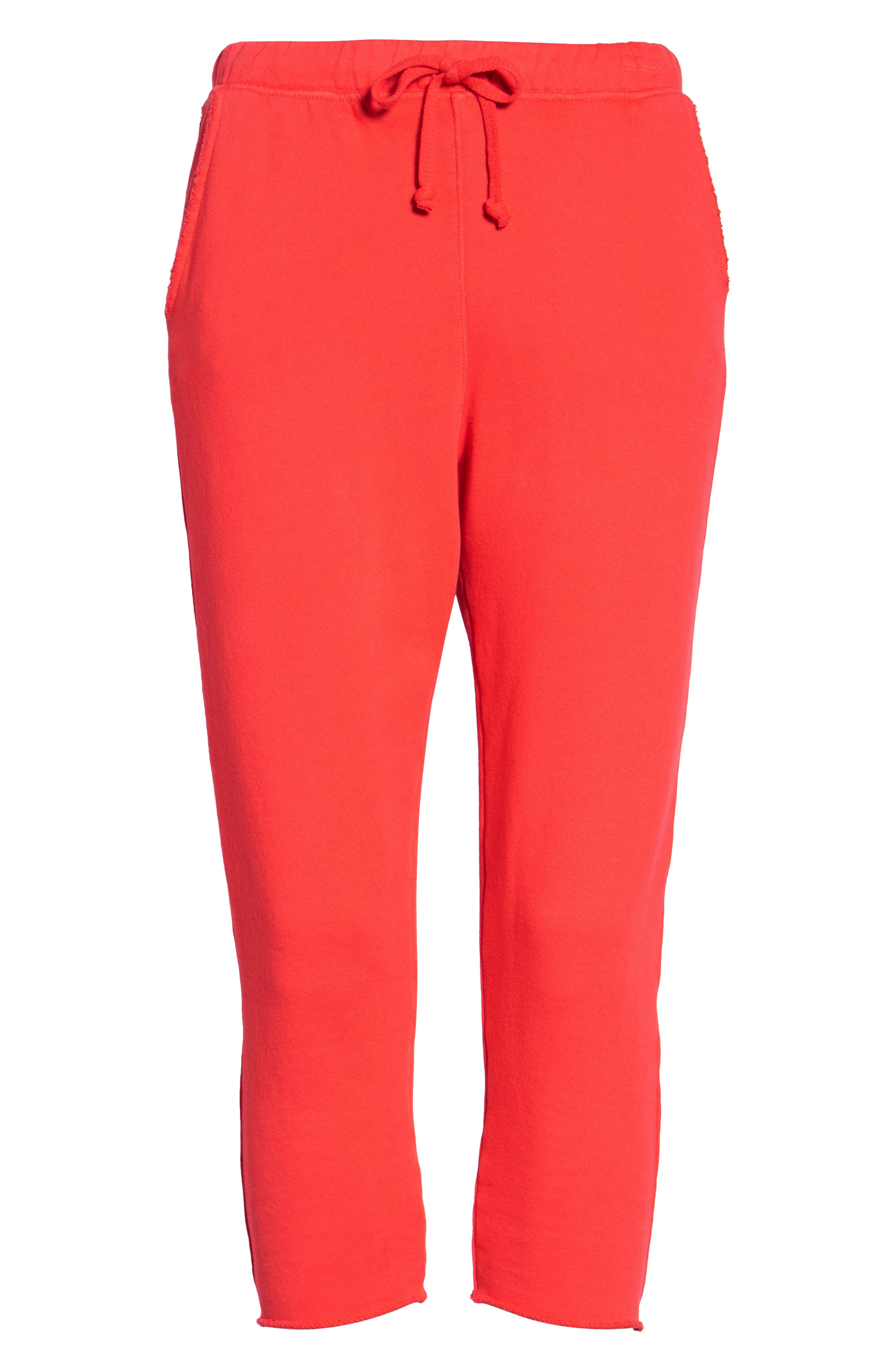 Alternate Image 7  - Frank & Eileen Tee Lab Raw Hem Crop Sweatpants